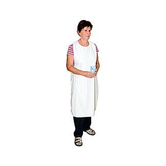 Schürze Folie Weiß 75x130 cm Waschbar