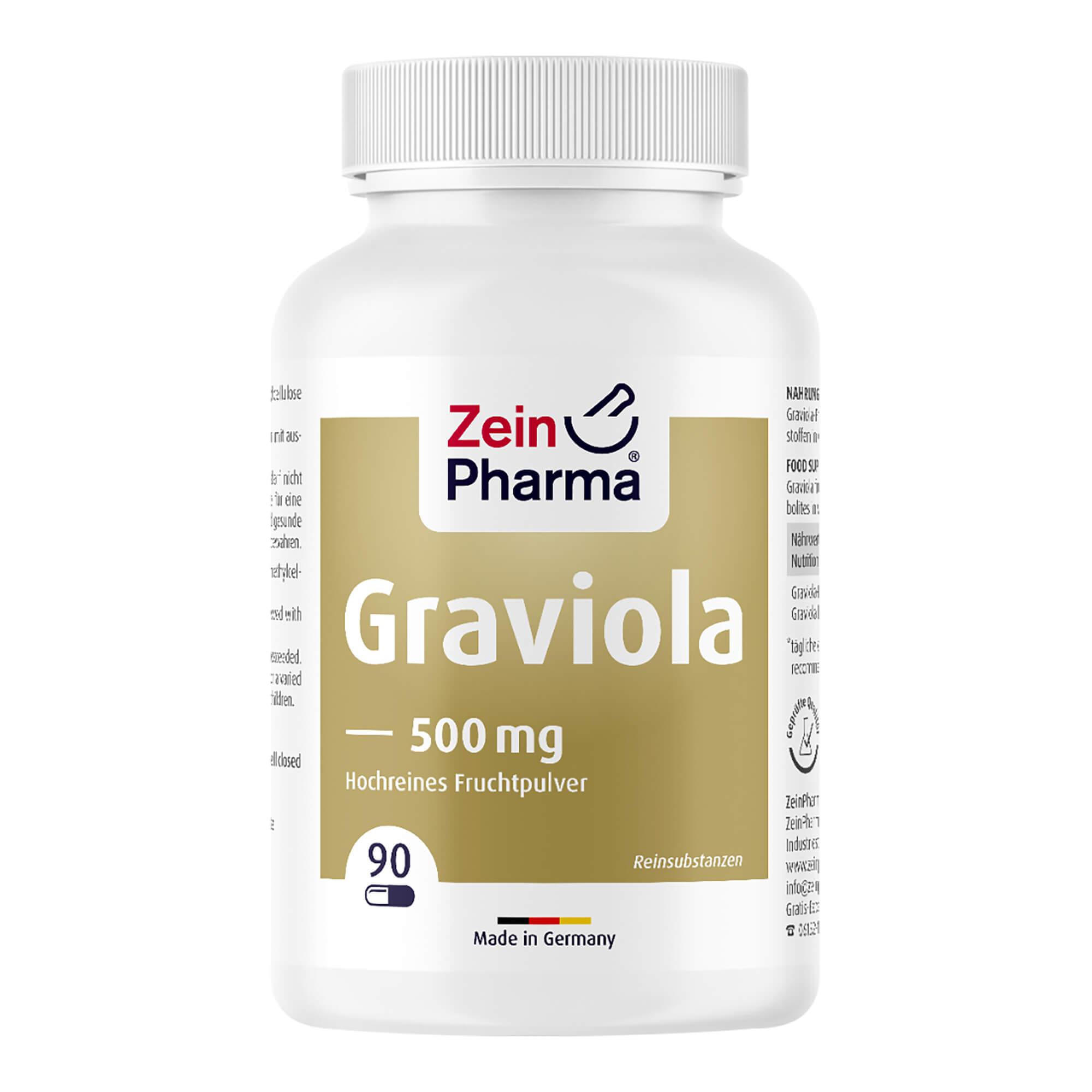 Graviola Kapseln 500 mg/Kapsel Reines Fruchtpulver Peru