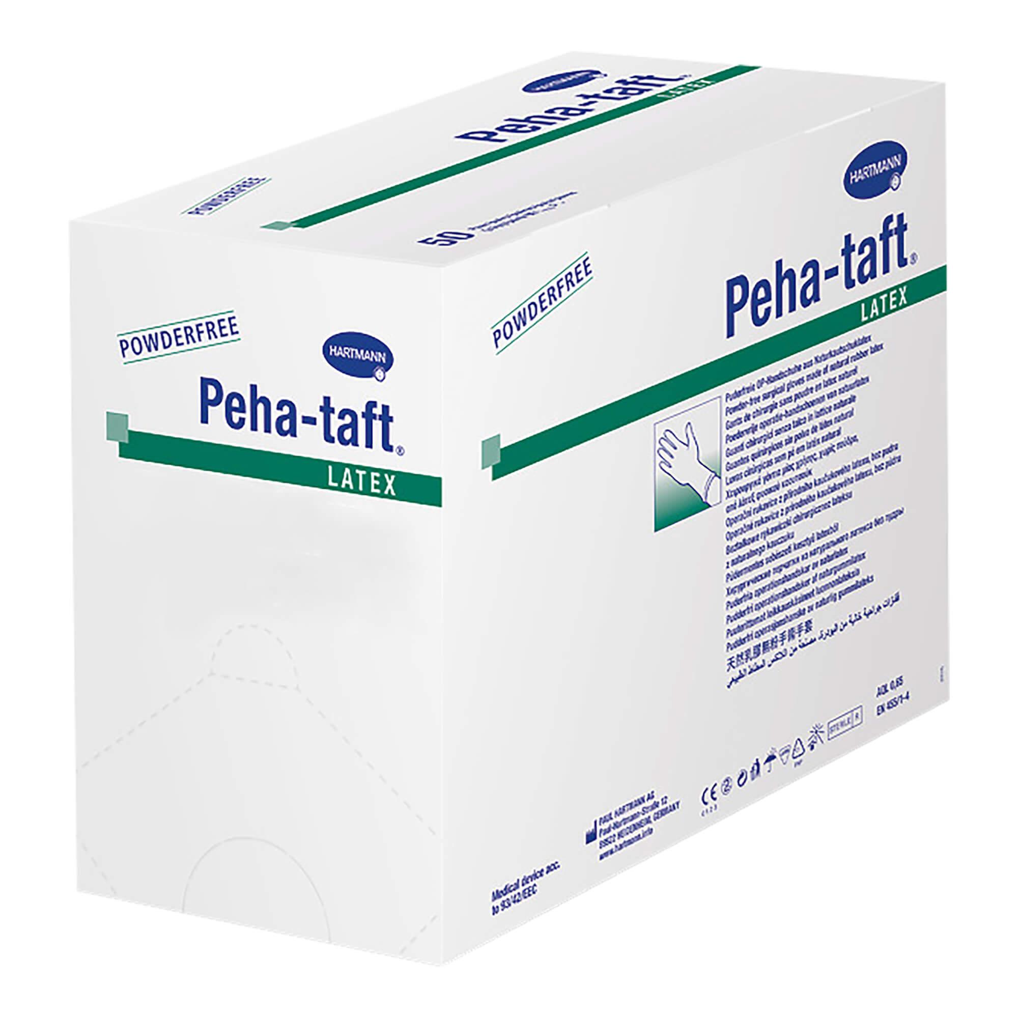 Peha-taft latex Handschuhe Gr. 8,0