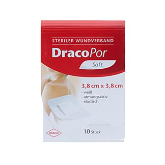 DracoPor soft weiß 3,8x3,8 cm steril
