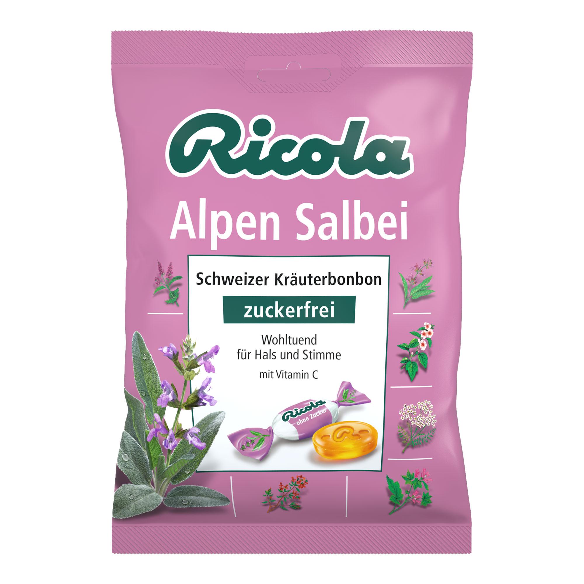 Ricola Alpen Salbei Bonbons ohne Zucker