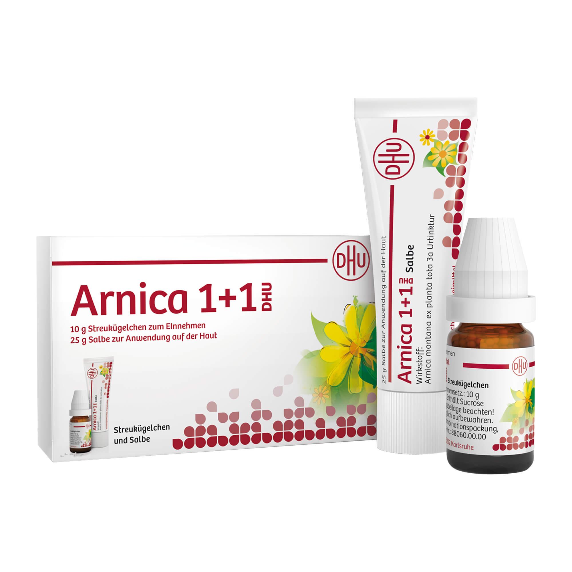 Arnica 1+1 DHU Streukügelchen + Salbe