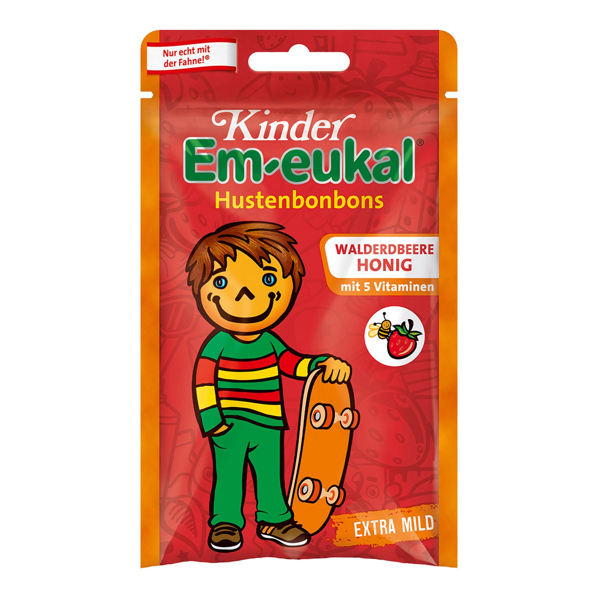 Kinder Em-eukal Hustenbonbons Walderdbeere-Honig