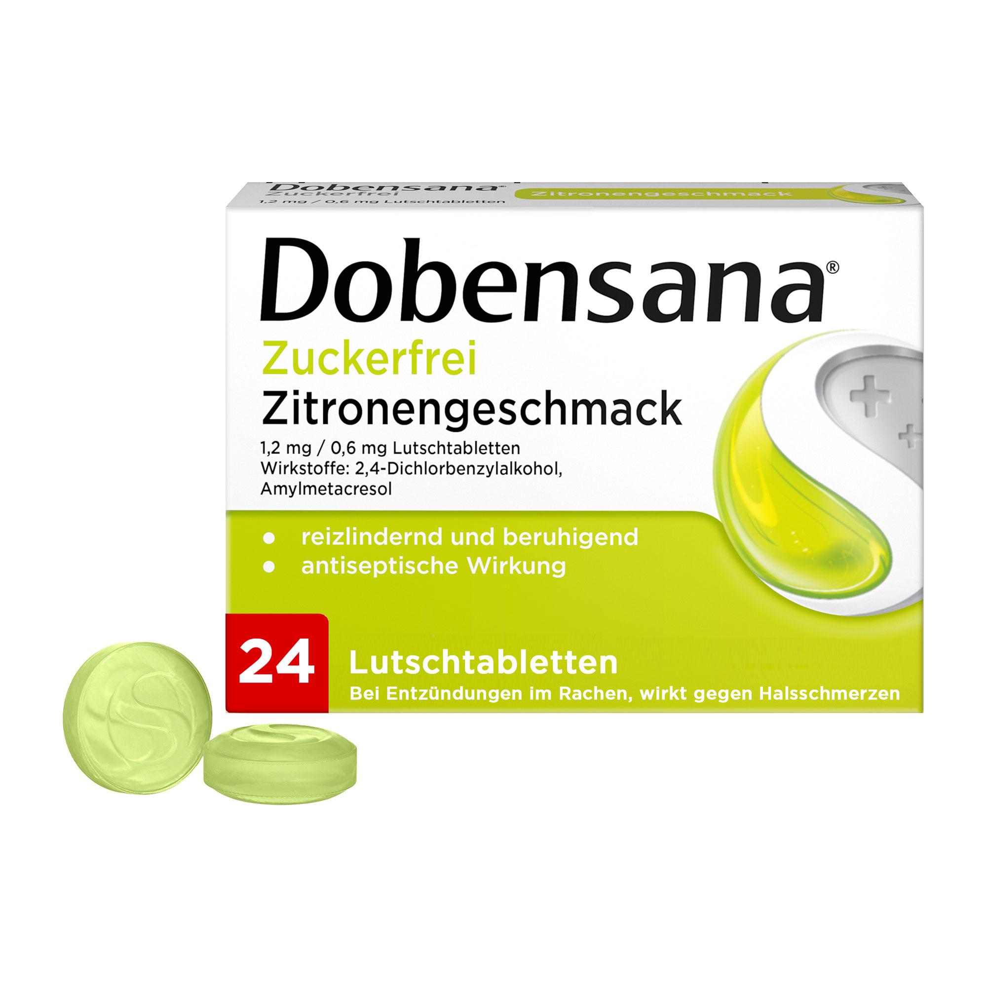 Dobensana Zuckerfrei Zitronengeschmack Lutschtabletten