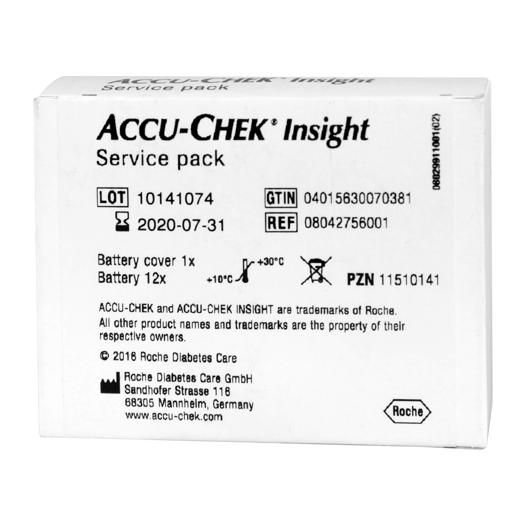 ACCU-CHEK Insight Service Pack Batteriefachabdeckung