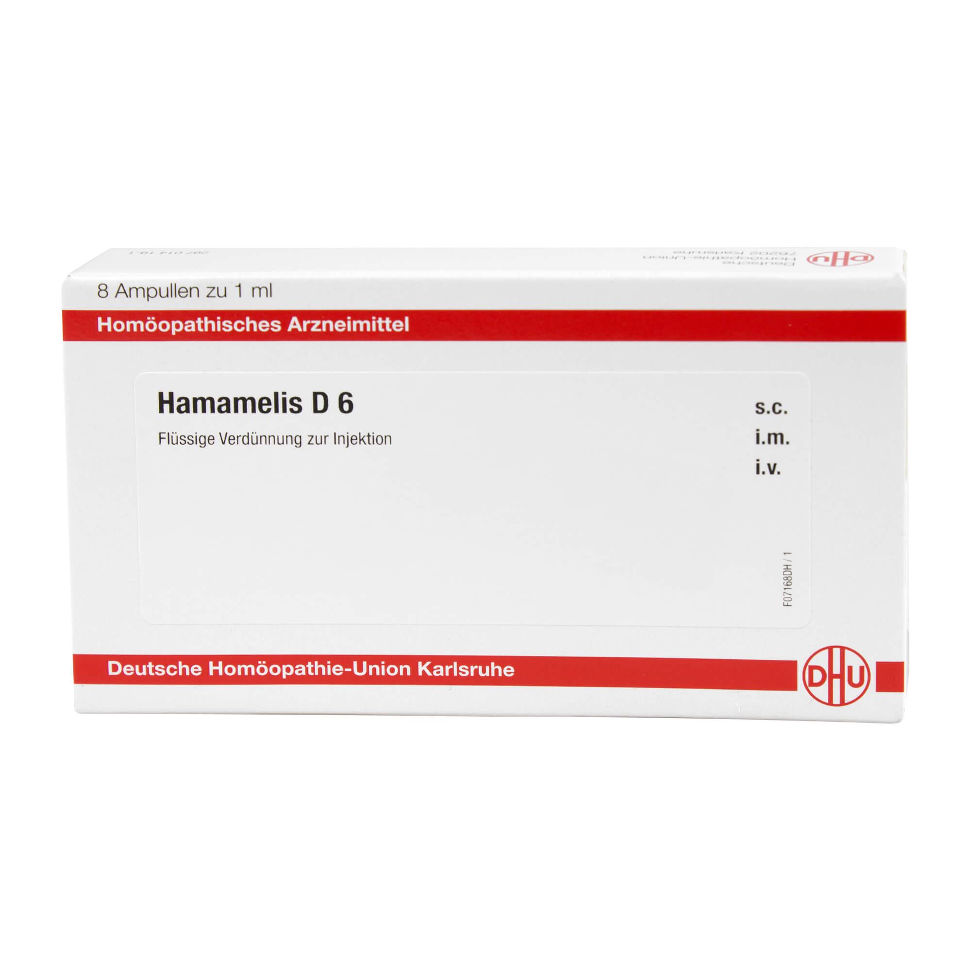 Hamamelis D6 Ampullen Homöopathie