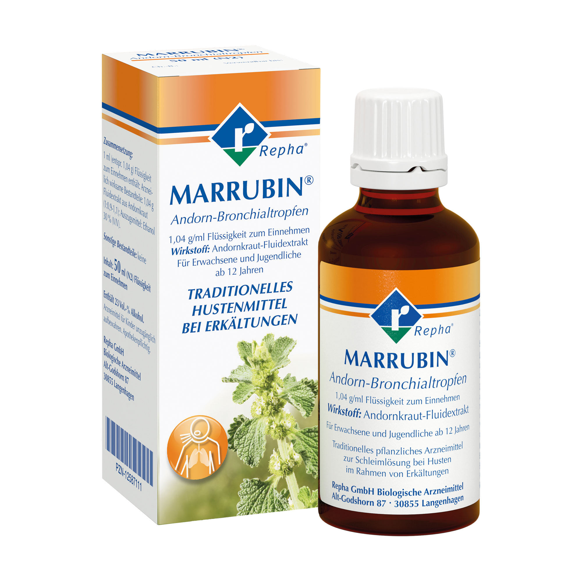 Marrubin Andorn-Bronchialtropfen zur Schleimlösung