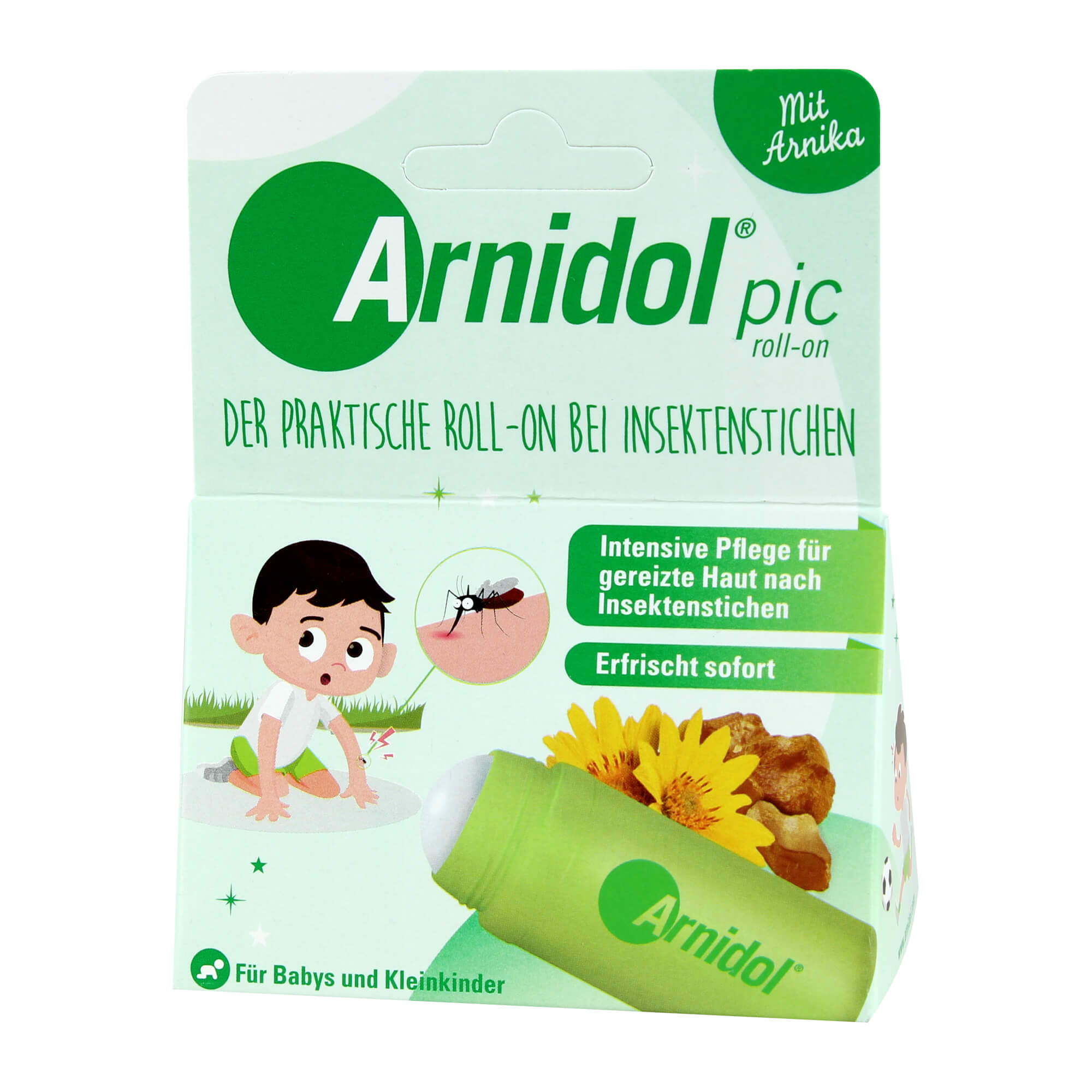 Arnidol pic roll-on bei Insektenstichen