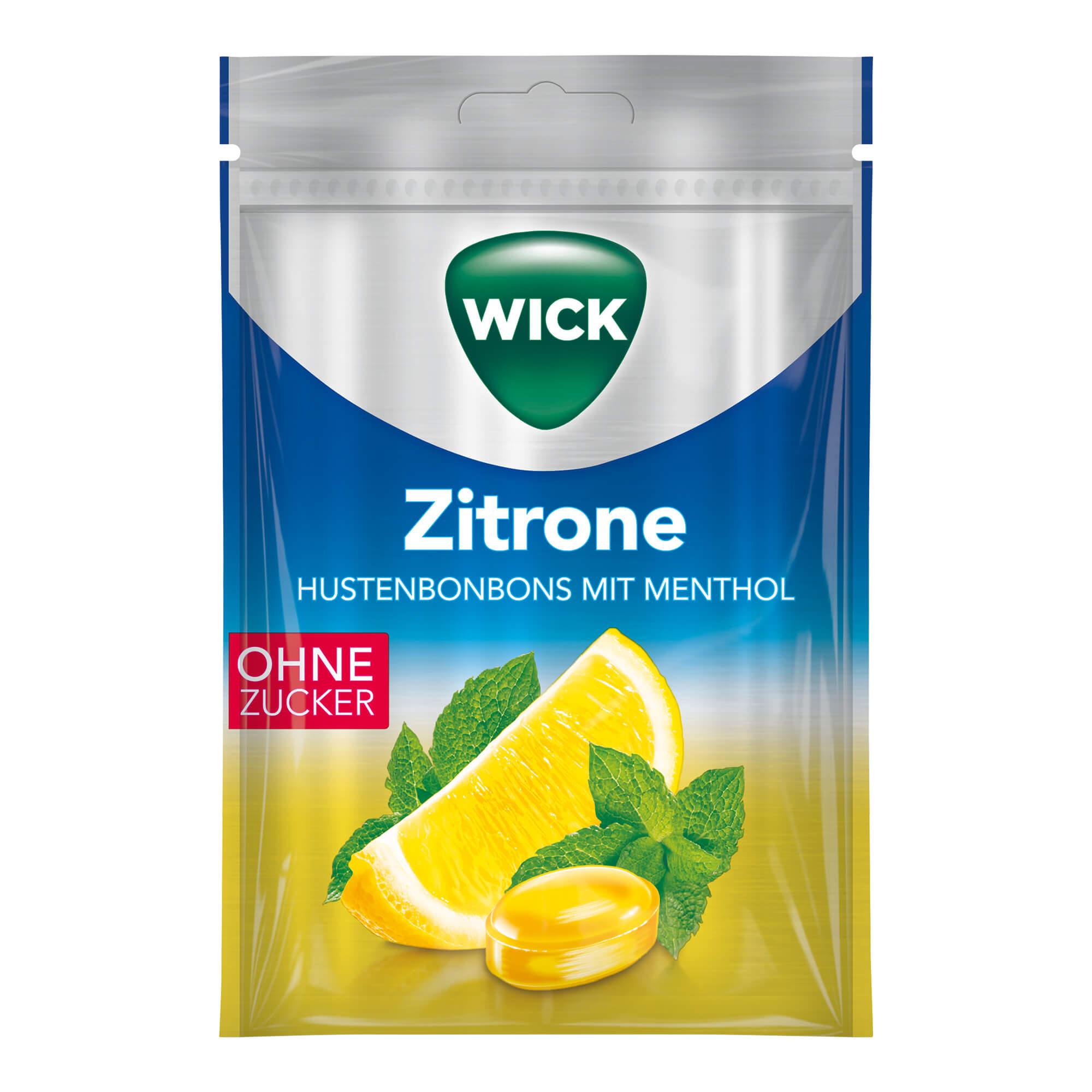 Wick Hustenbonbons Zitrone & Menthol
