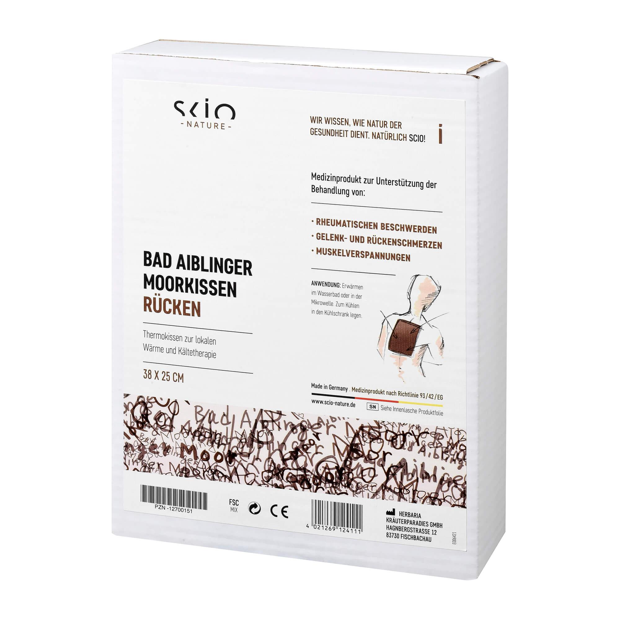 Moorkissen Bad Aiblinger Rücken 25 x 38 cm
