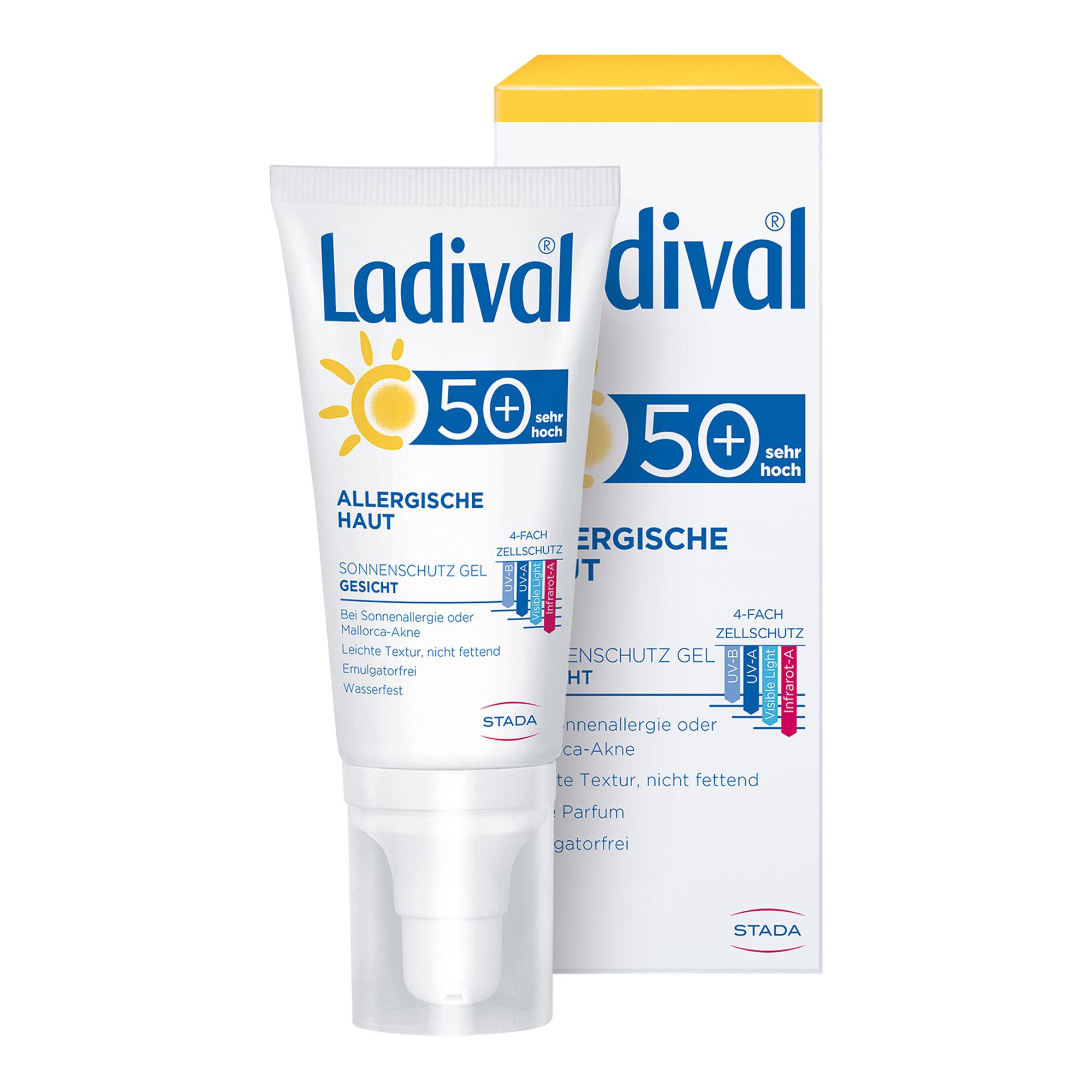 Ladival Allergische Haut Sonnenschutz Gel Gesicht LSF 50+