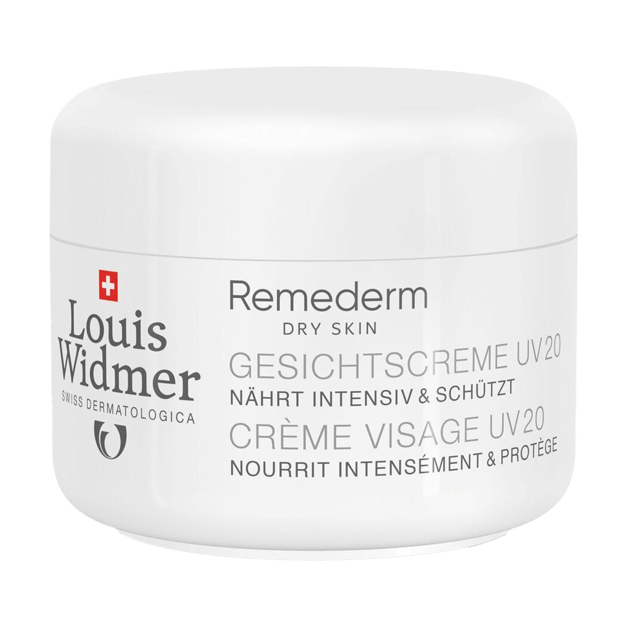 Widmer Remederm Gesichtscreme UV 20 unparfümiert