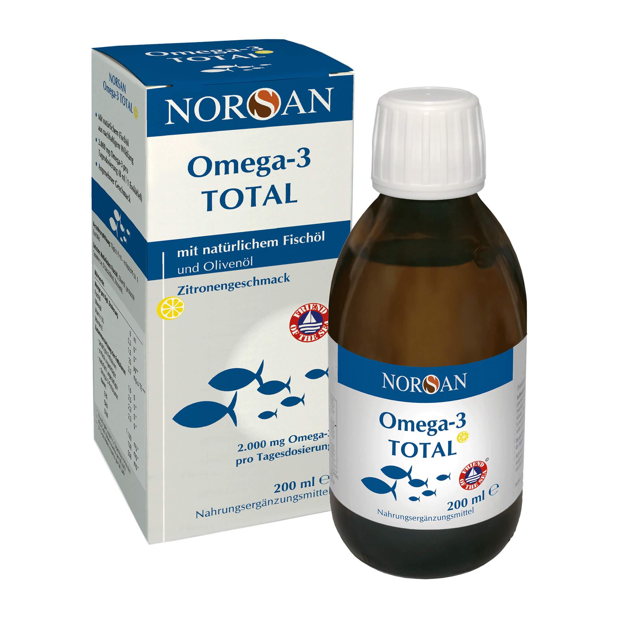 Norsan Omega-3 Total flüssig mit Zitronengeschmack