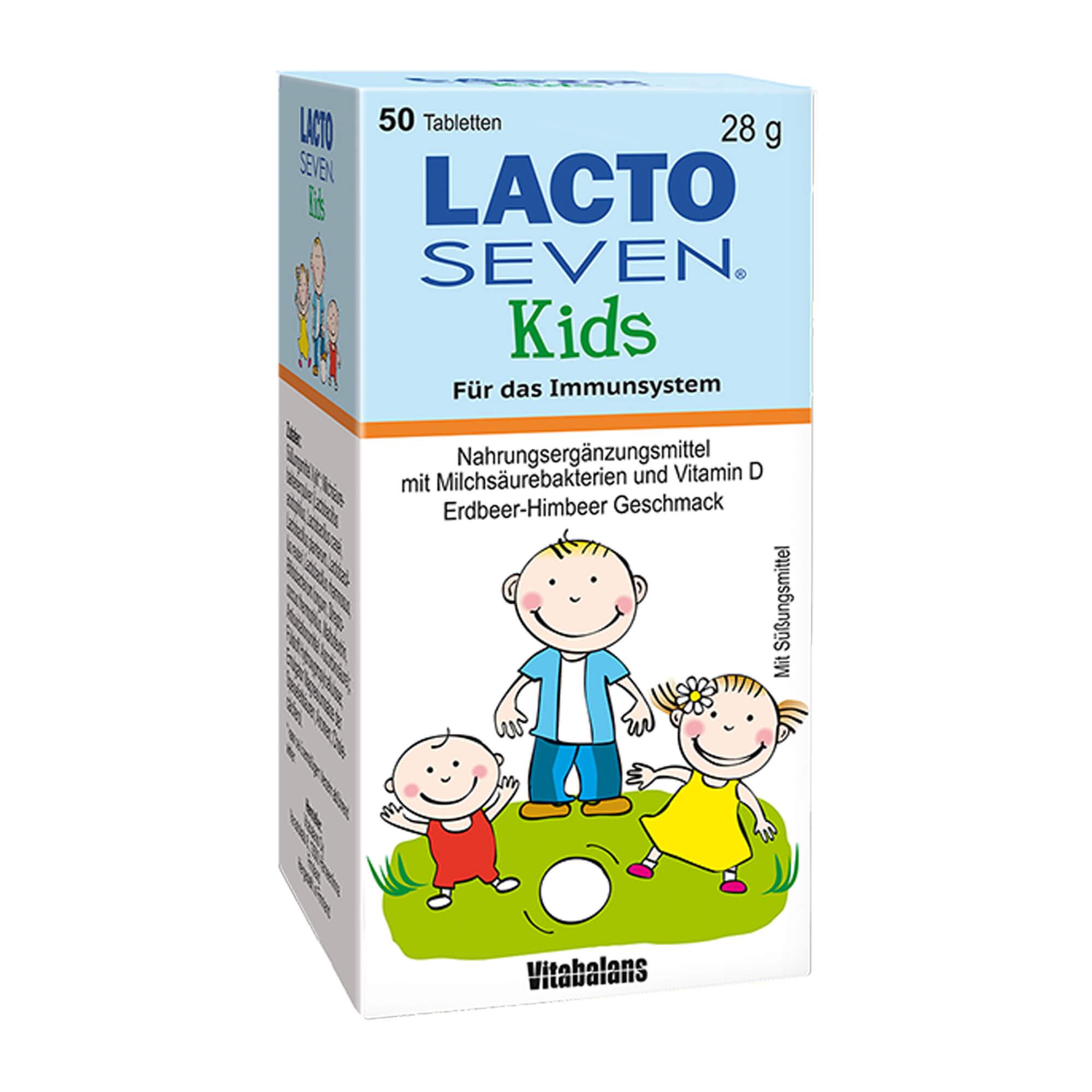 Lacto Seven Kids Erdbeer-Himbeer-Geschmack
