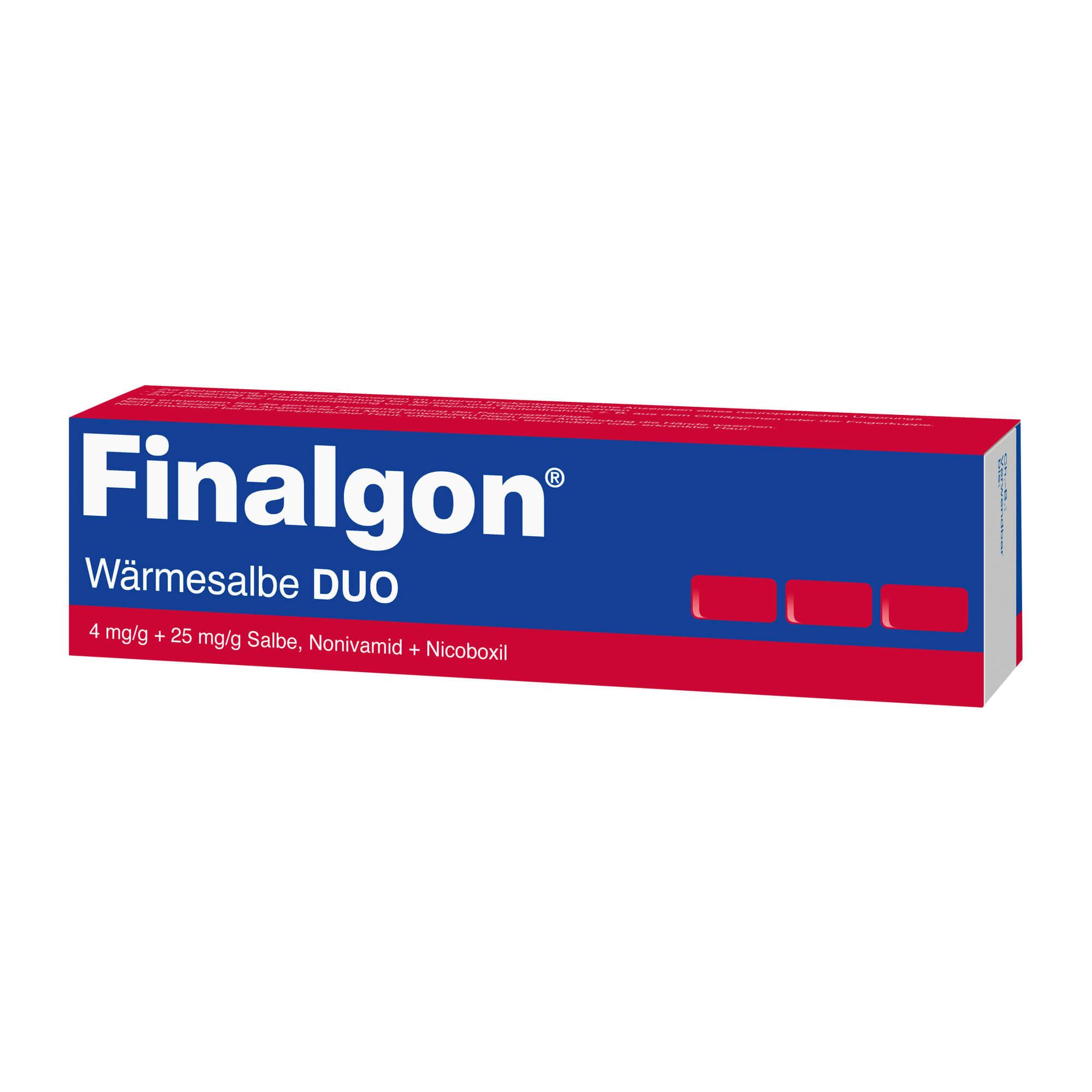 Finalgon Wärmesalbe DUO 4 mg/g + 25 mg/g