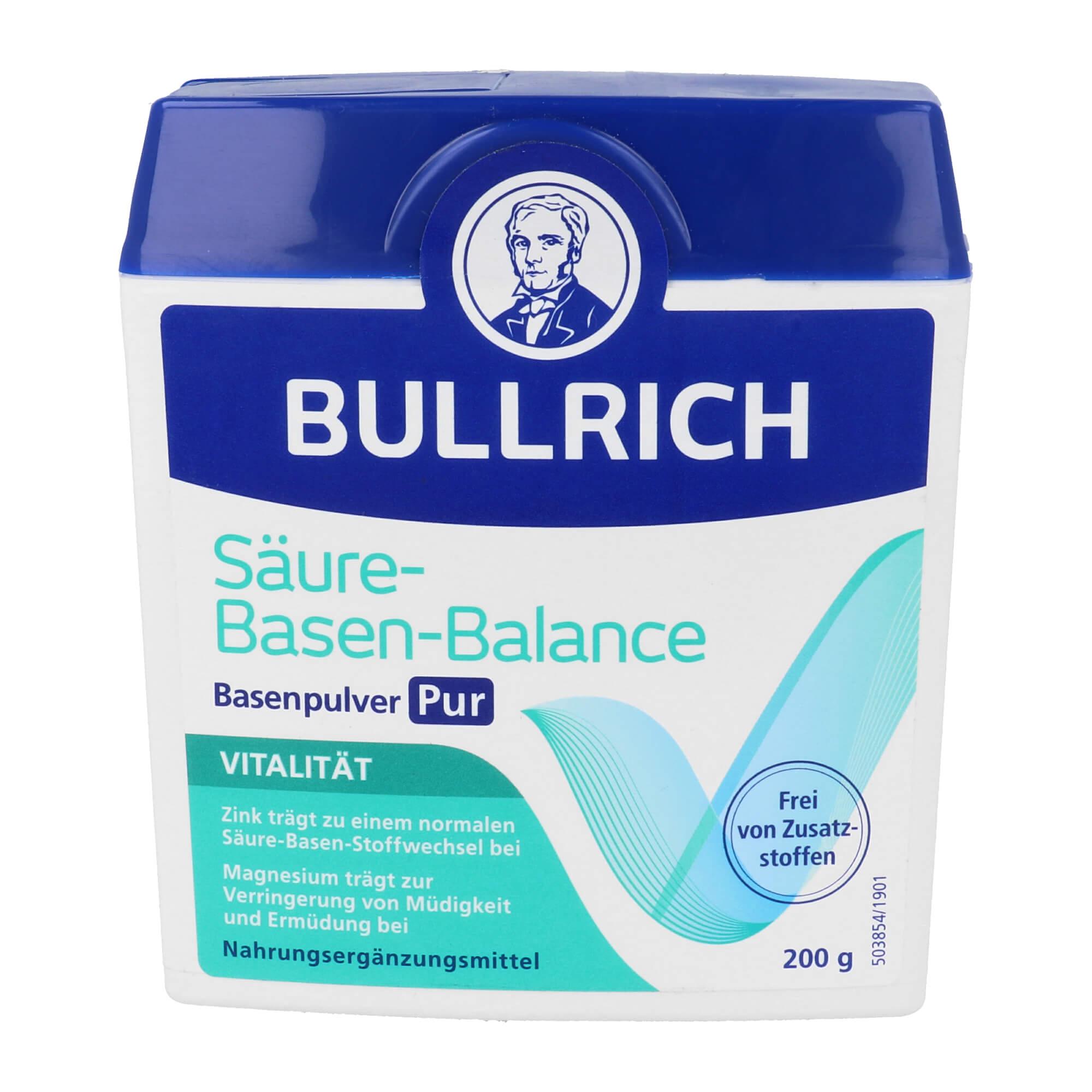 Bullrich Säure Basen Balance Basenpulver Pur
