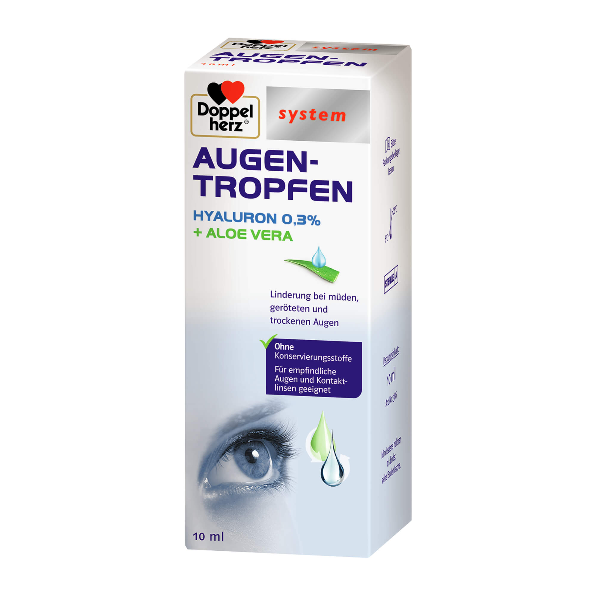 Doppelherz Augen-Tropfen Hyaluron 0,3% system