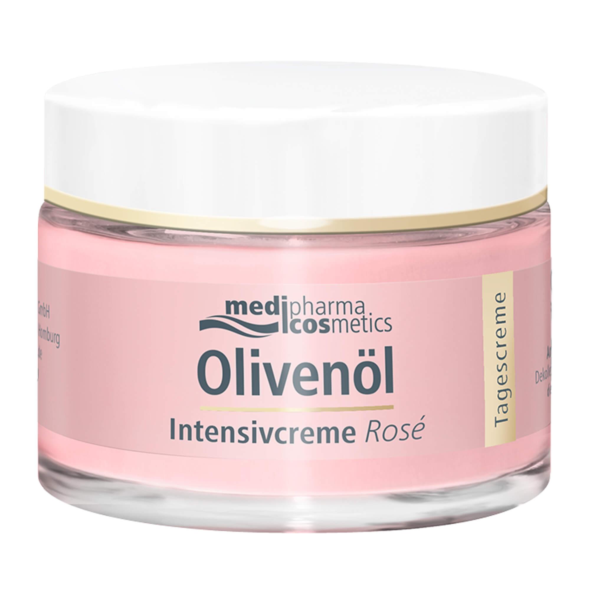 Olivenöl Intensivcreme Rosé Tagescreme für das Gesicht