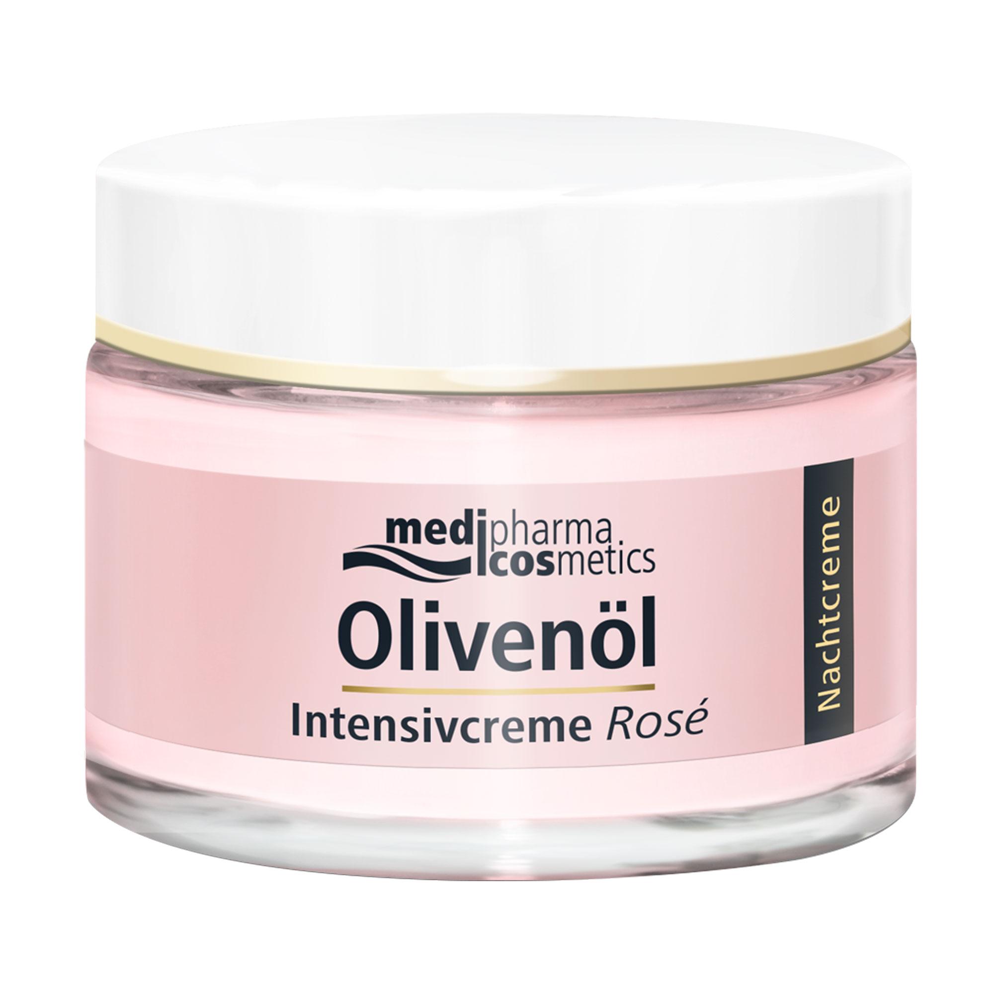 Olivenöl Intensivcreme Rosé Nachtcreme für das Gesicht