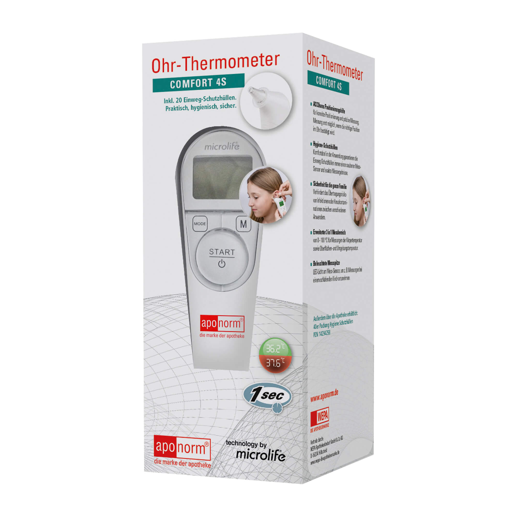 Aponorm Fieberthermometer Ohr Comfort 4S