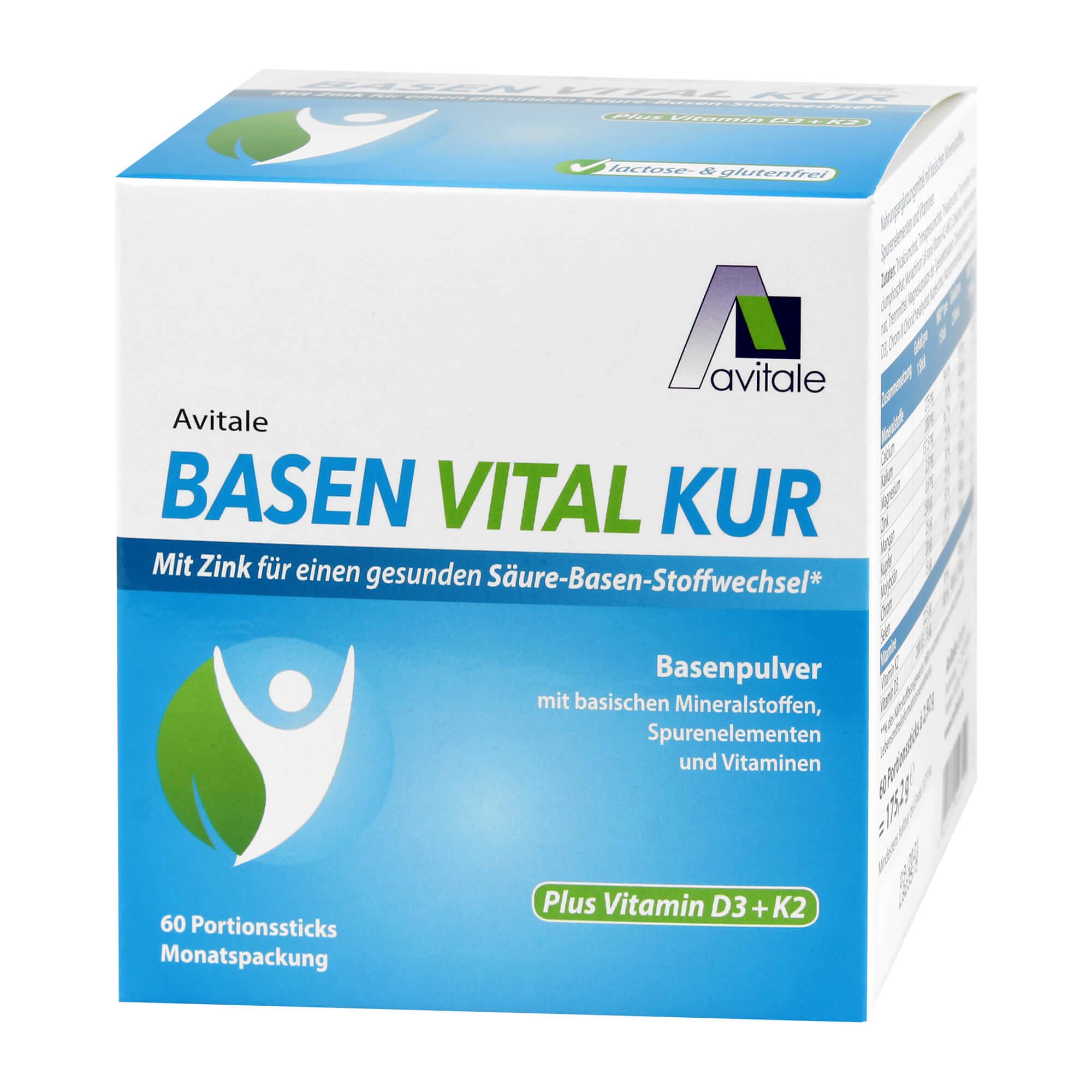 Basen Vital Kur plus Vitamin D3 + K2 Pulver