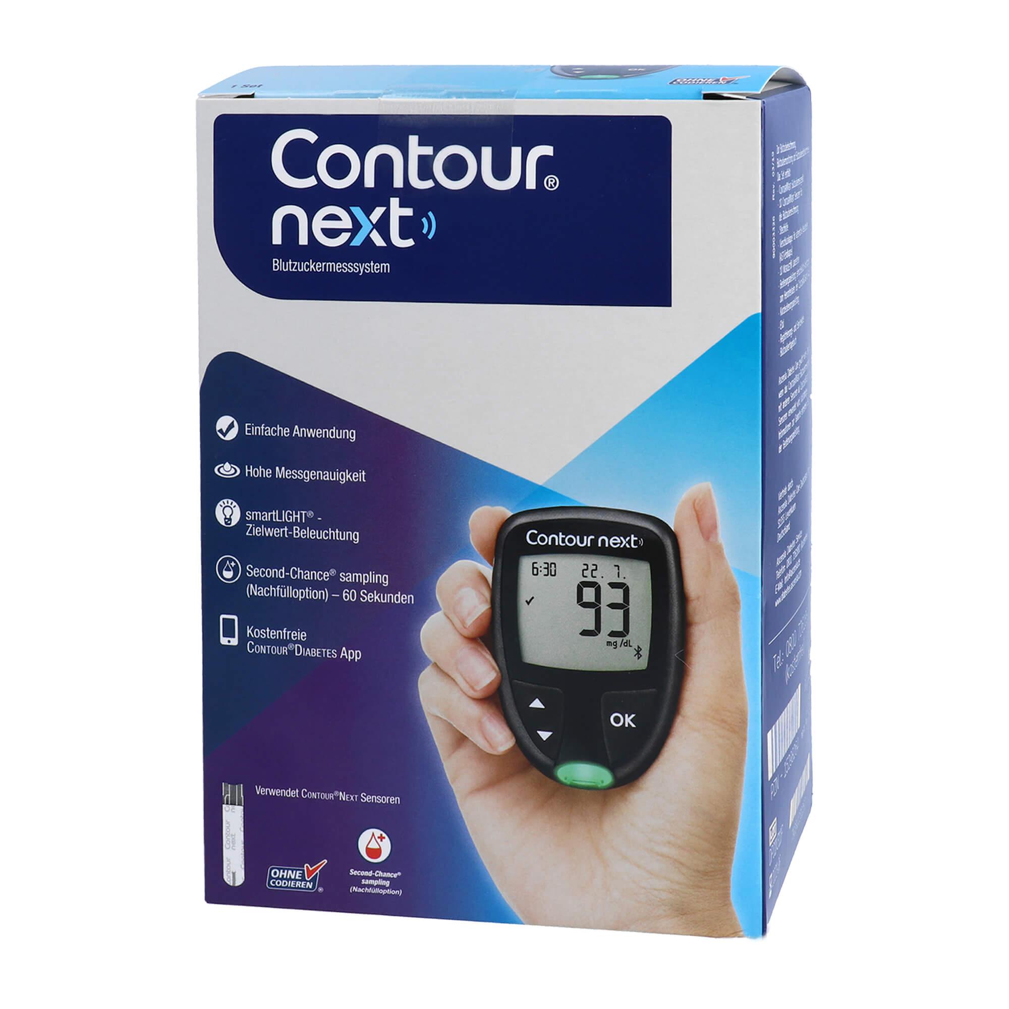 Contour Next Set Blutzuckermessgerät mg/dl