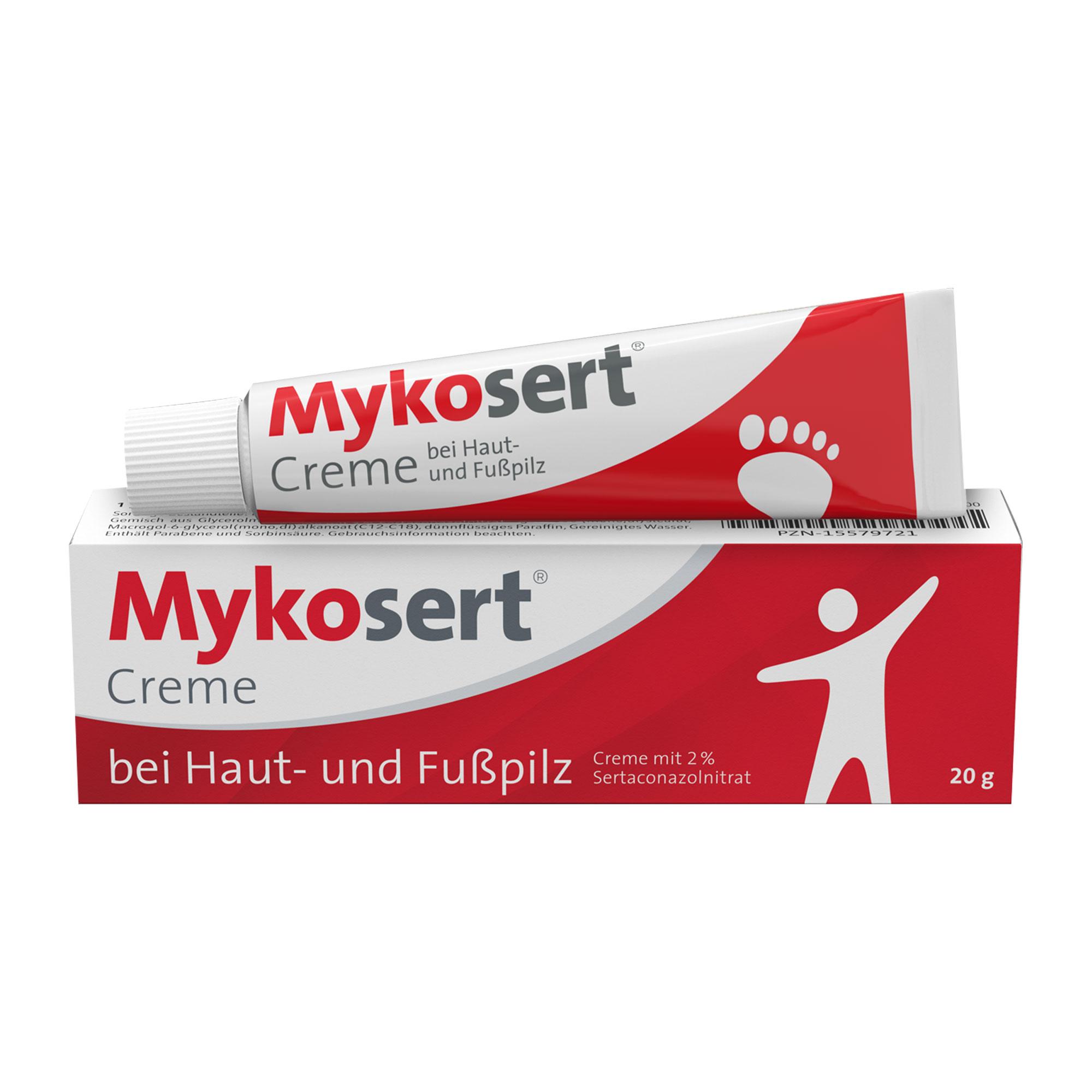 Mykosert Creme bei Haut- und Fußpilz