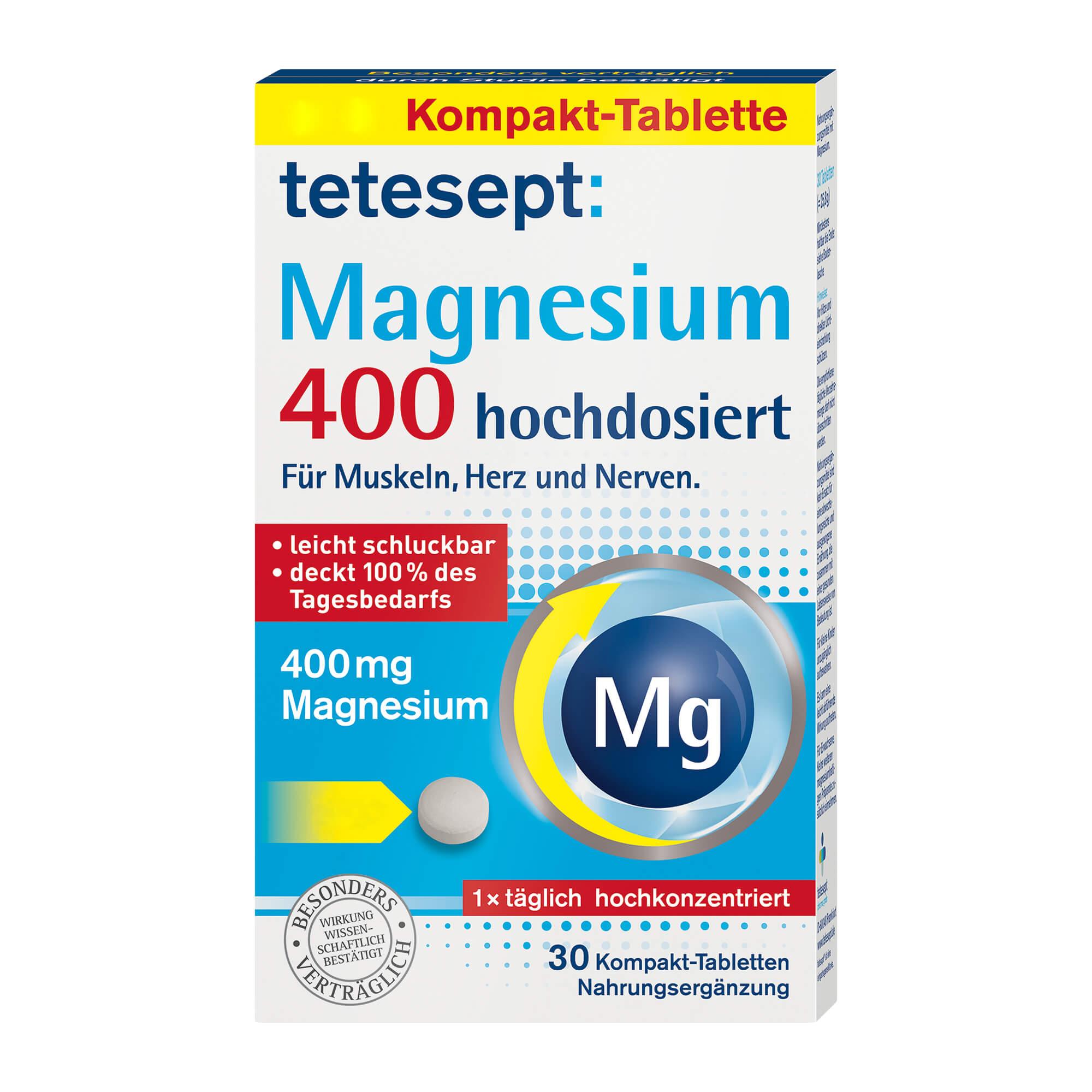 Tetesept Magnesium 400 hochdosiert