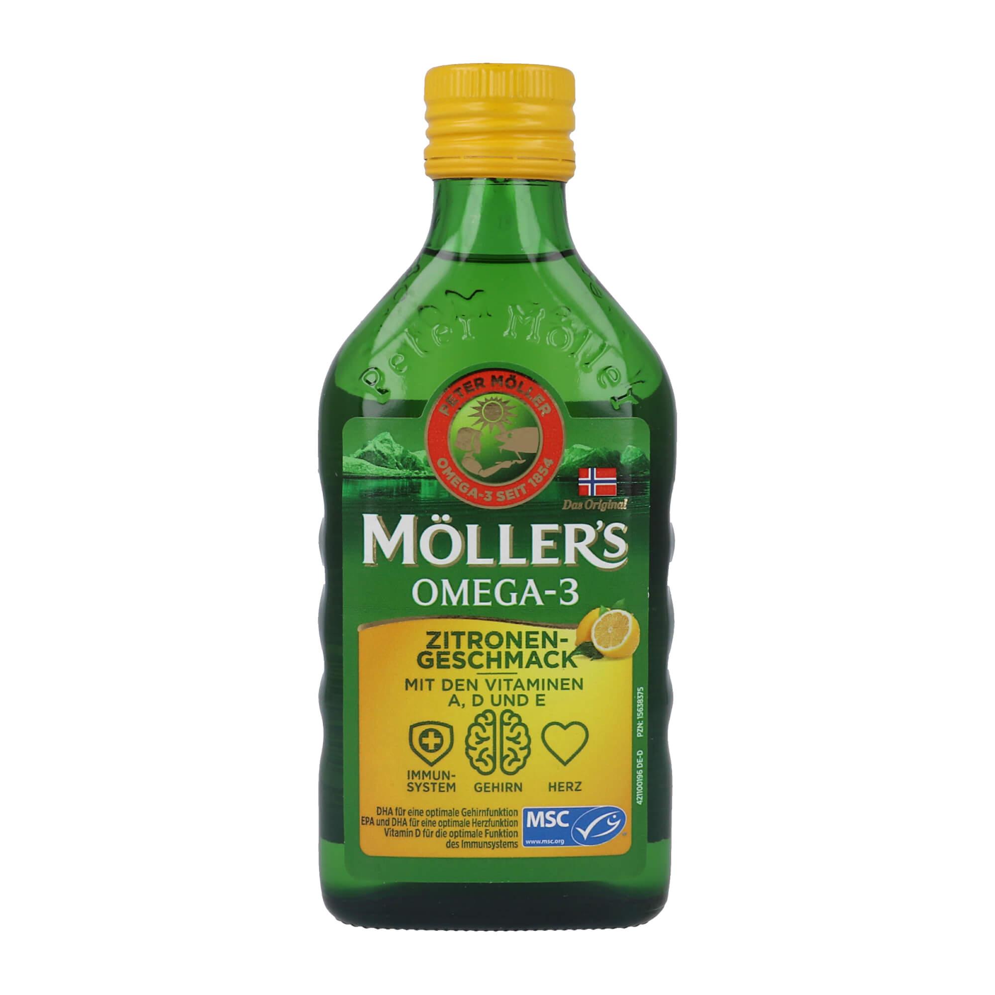 Möller's Omega-3 Zitronengeschmack Öl