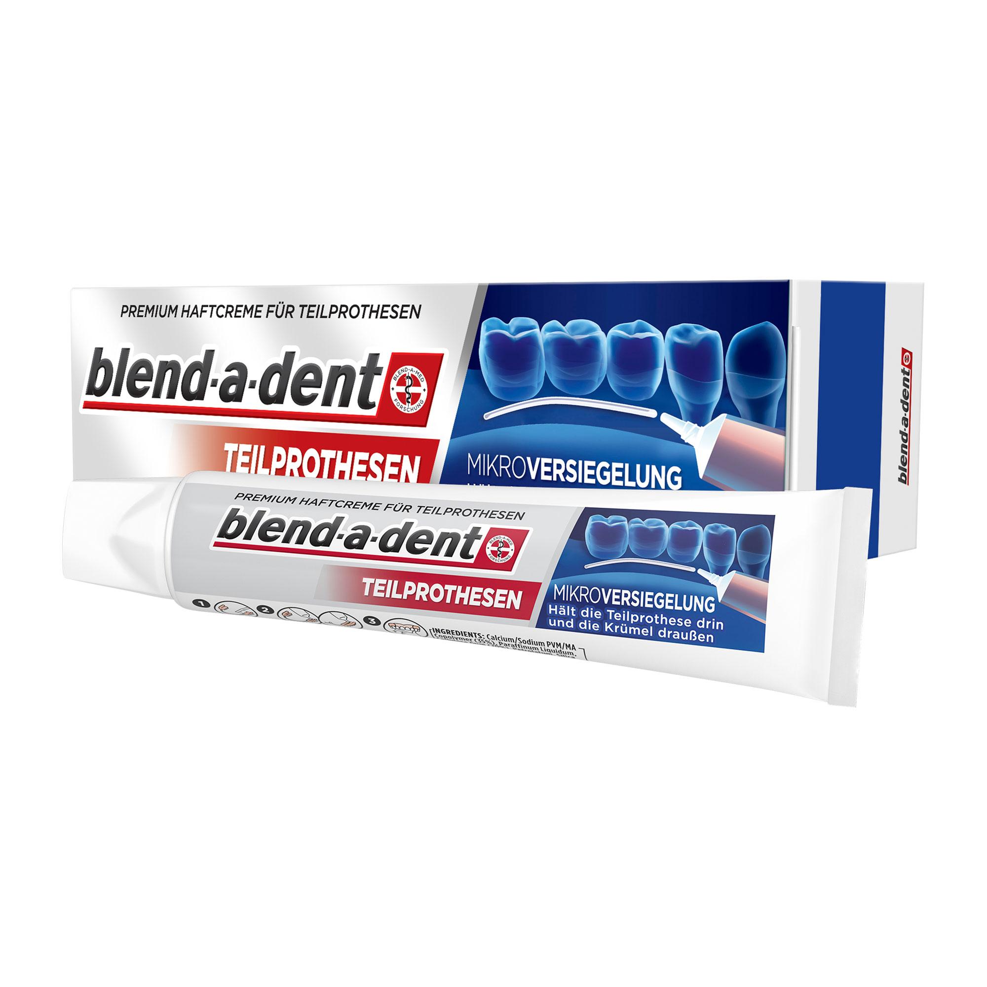 Blend-a-dent Premium-Haftcreme für Teilprothesen