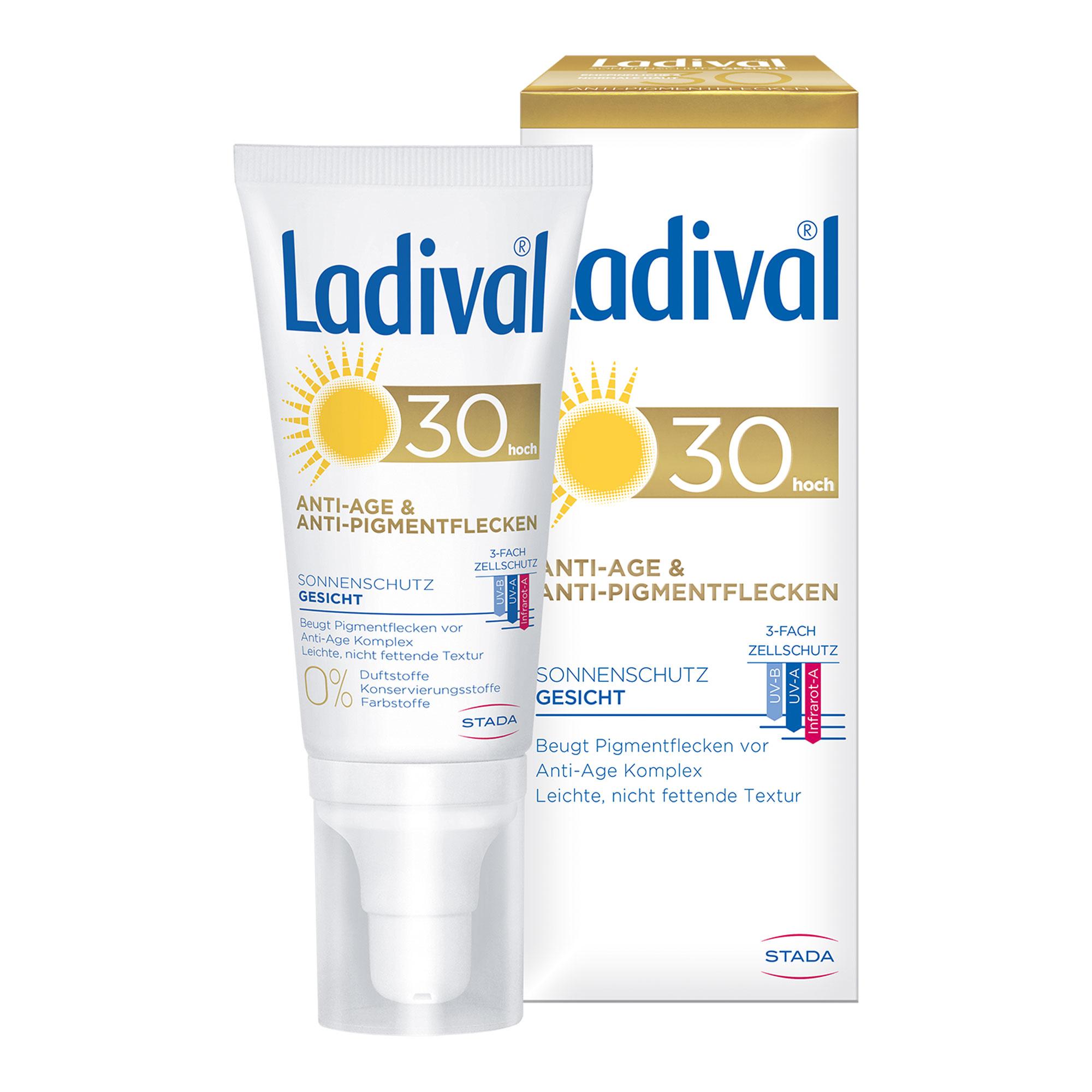 Ladival Sonnenschutz Gesicht Anti-Pigment Creme LSF 30