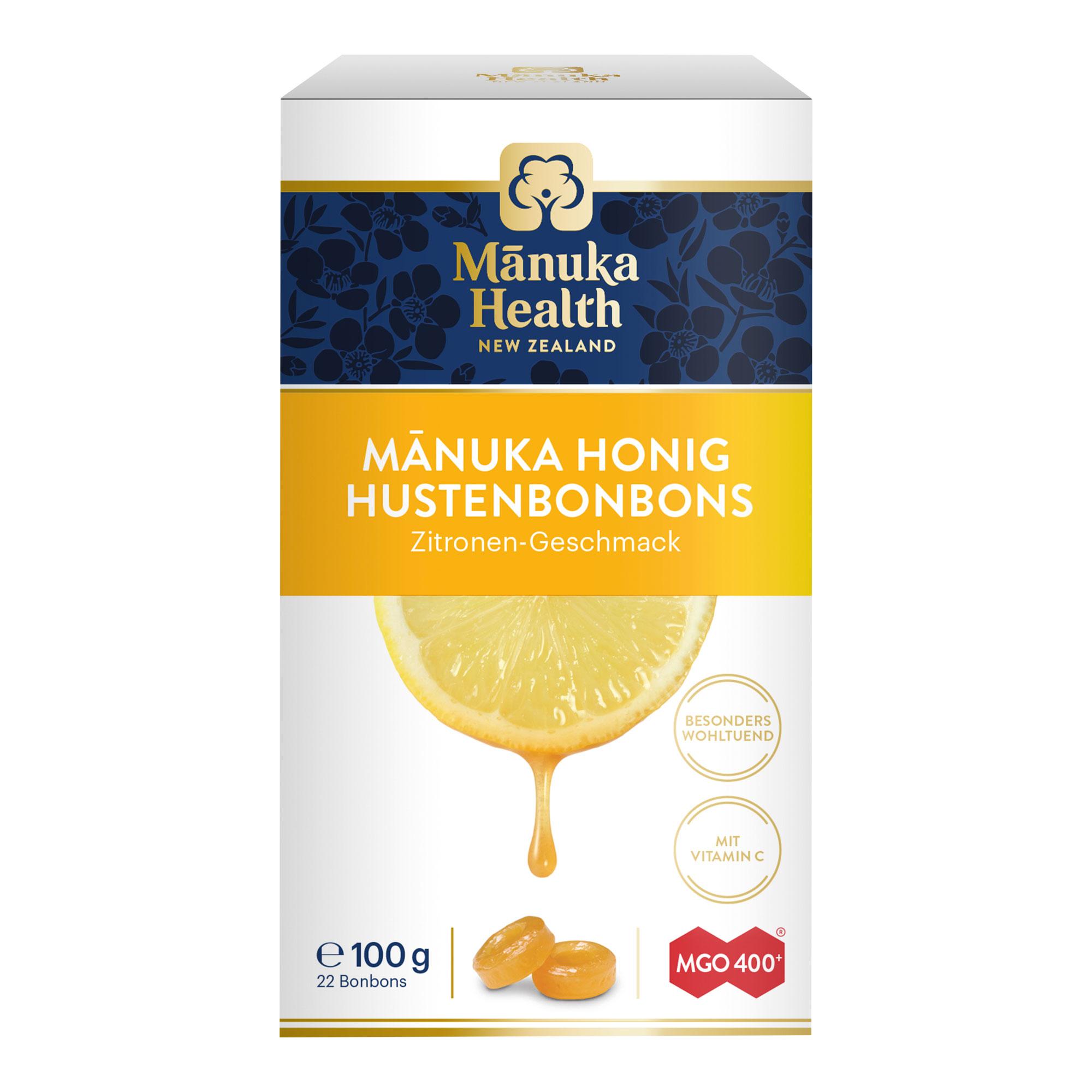 Manuka Health MGO 400+ Lutschbonbona Zitrone
