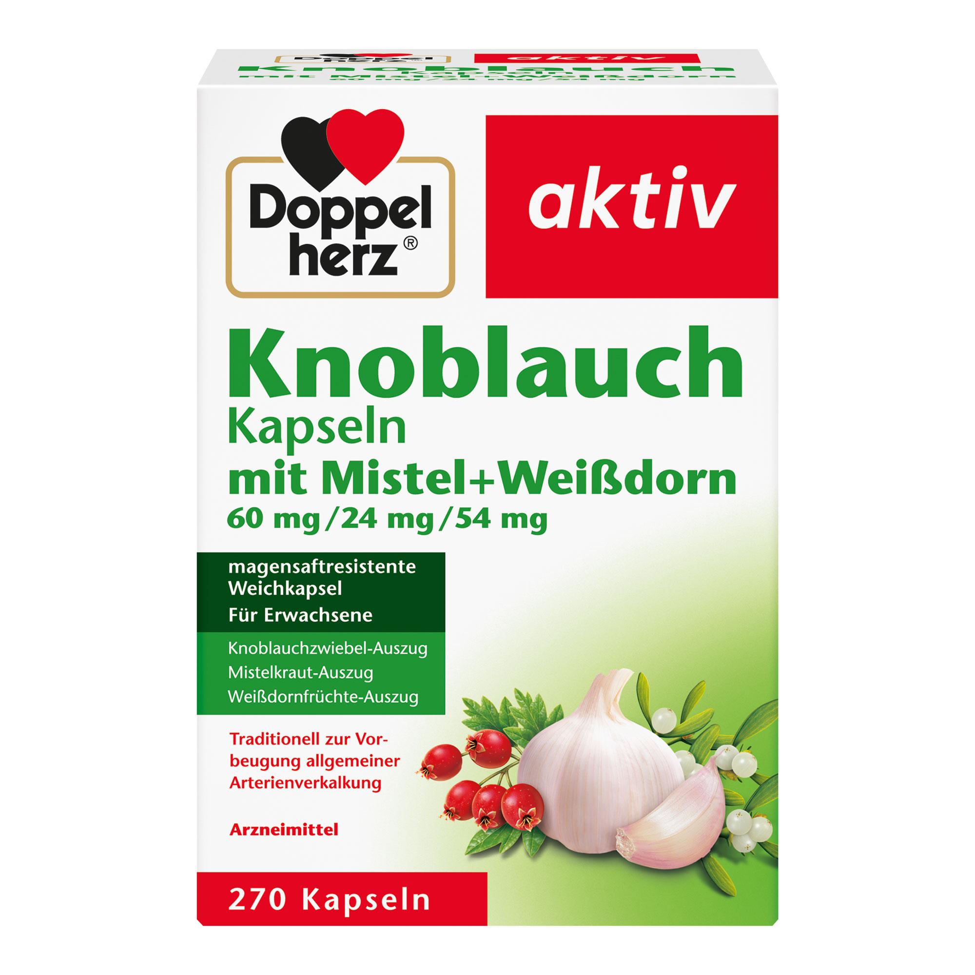 Doppelherz aktiv Knoblauch Kapseln mit Mistel+Weißdorn