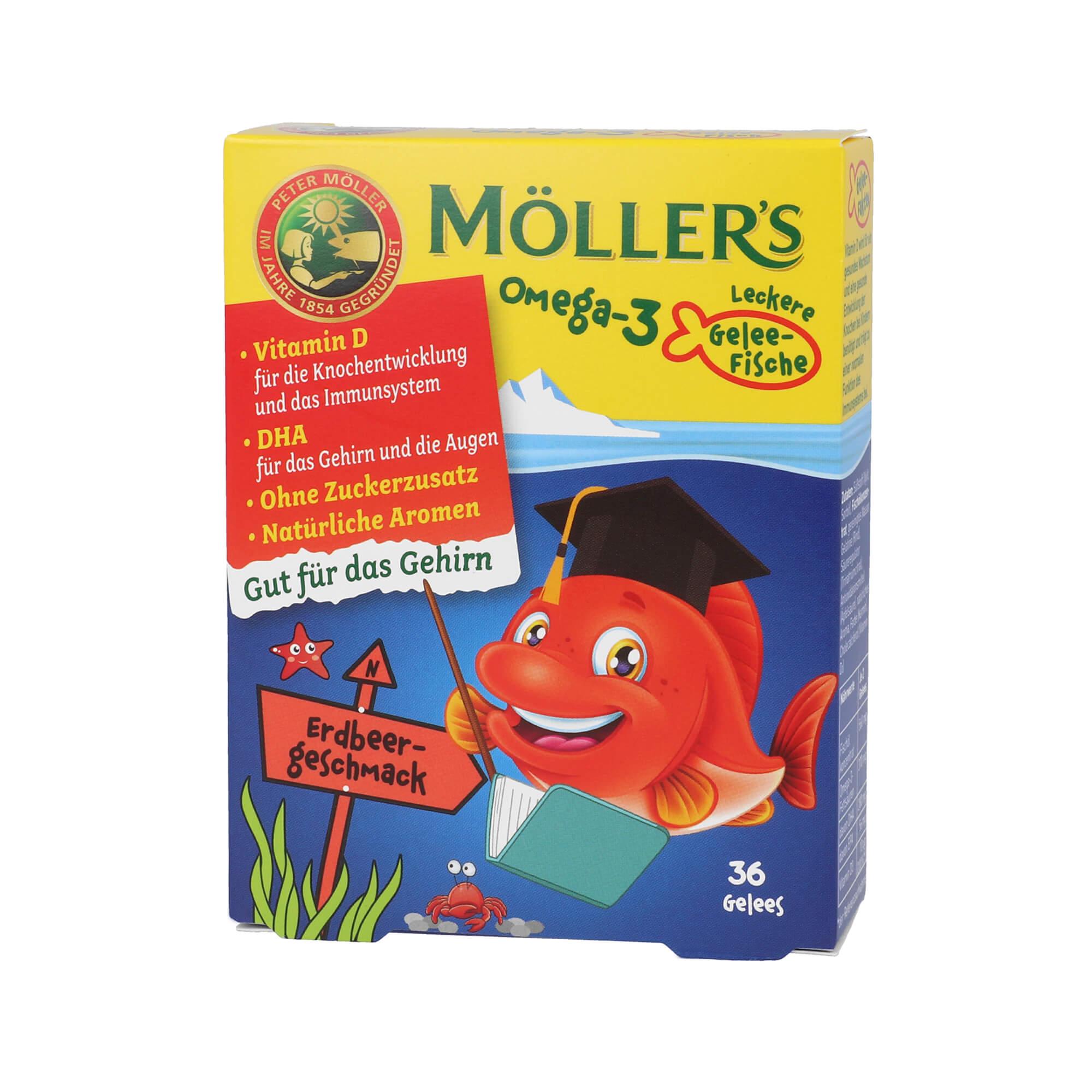 Möller's Omega-3 Gelee-Fische