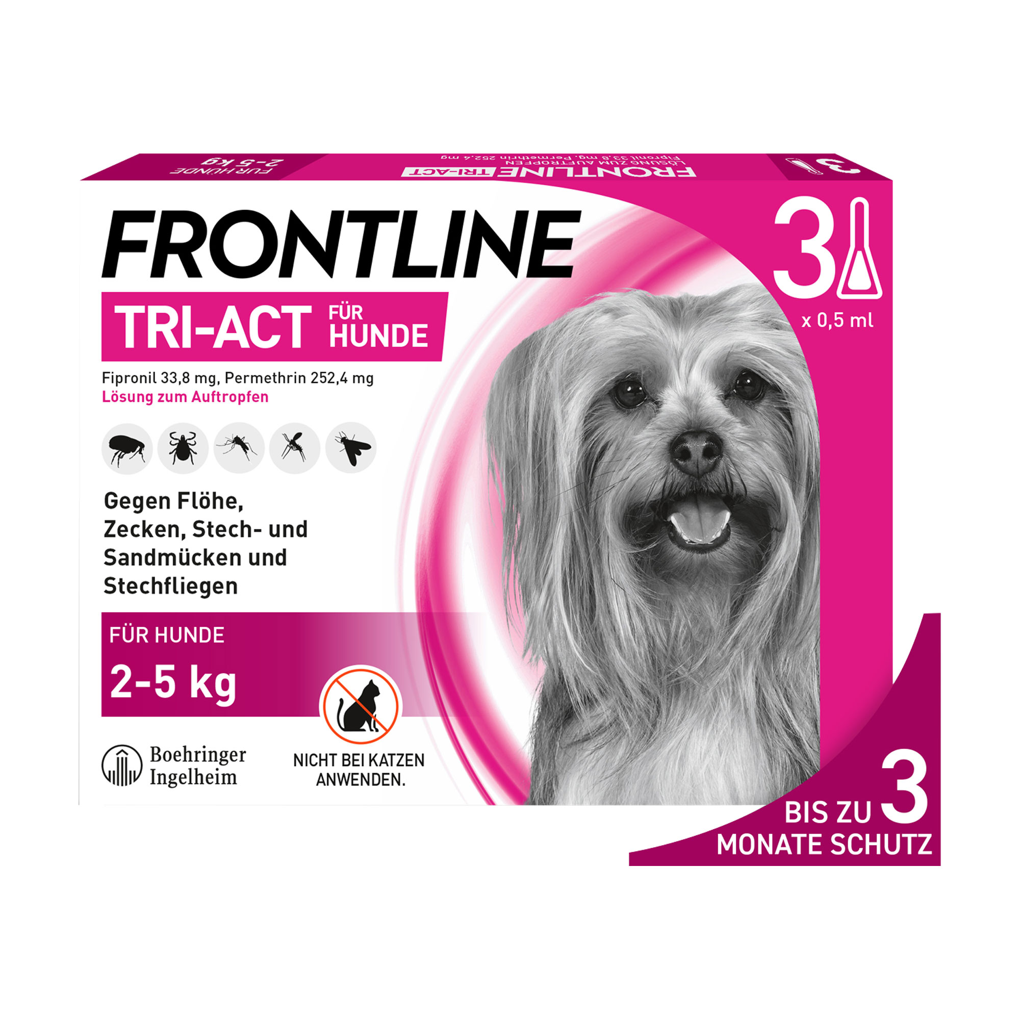 Frontline Tri-Act Hunde 2-5 kg