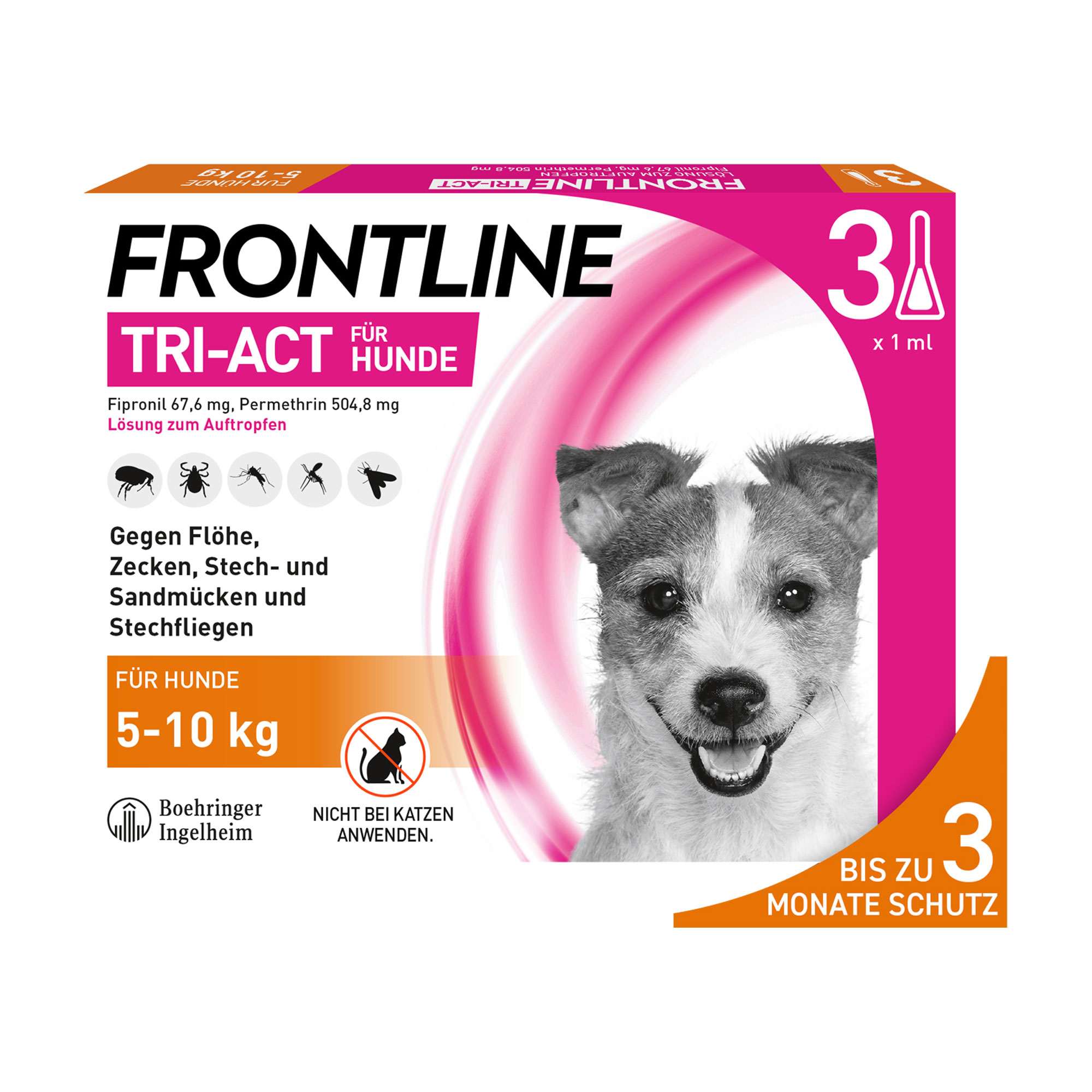 Frontline Tri-Act Hunde 5-10 kg
