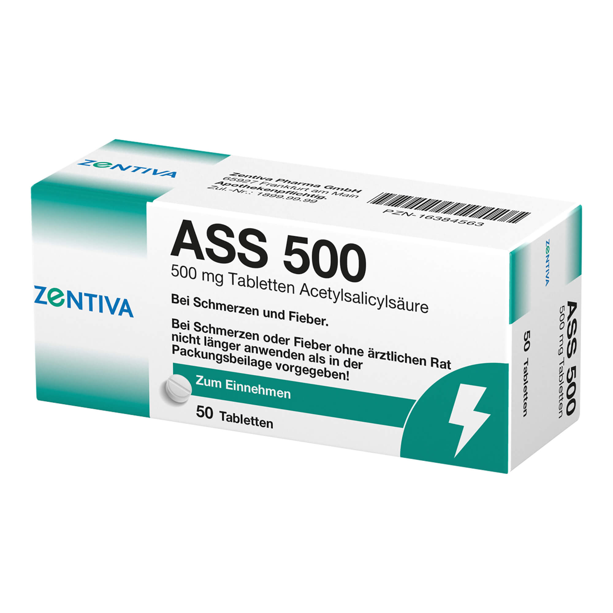 ASS 500 Acetylsalicylsäure 500 mg Tabletten