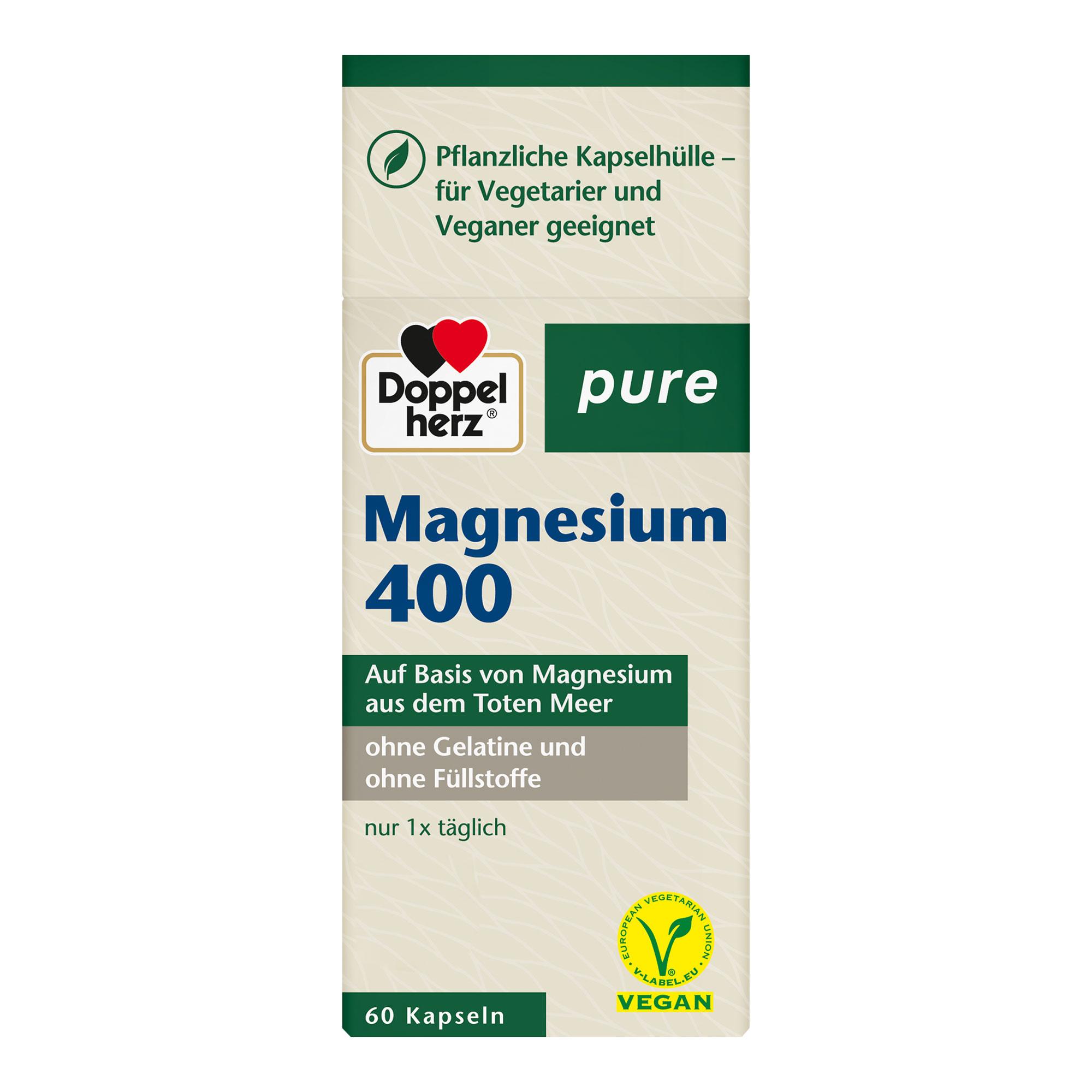 Gesundheit & Wohlbefinden Doppelherz pure Magnesium 400 Kapseln