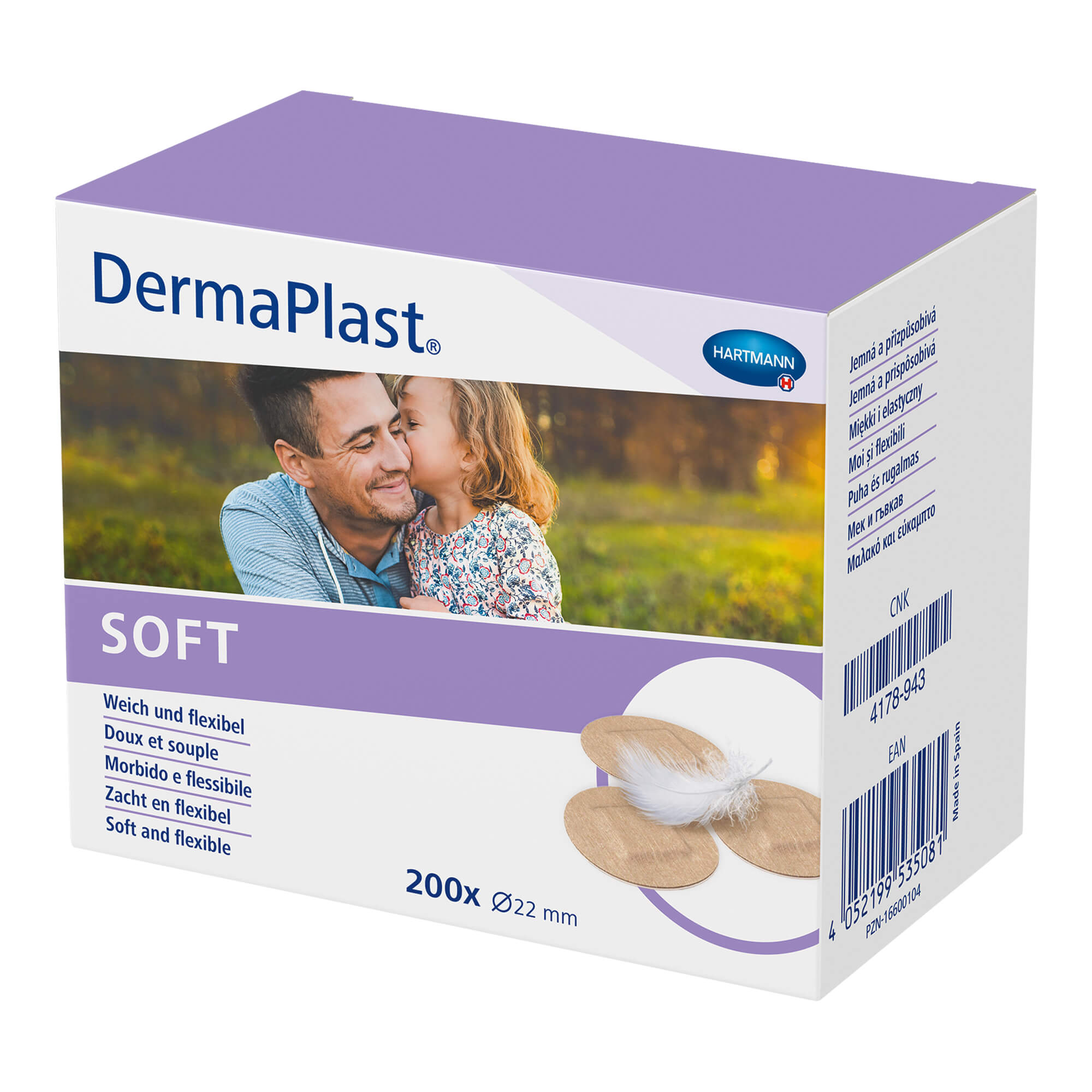 DermaPlast Soft Pflaster rund 22 mm