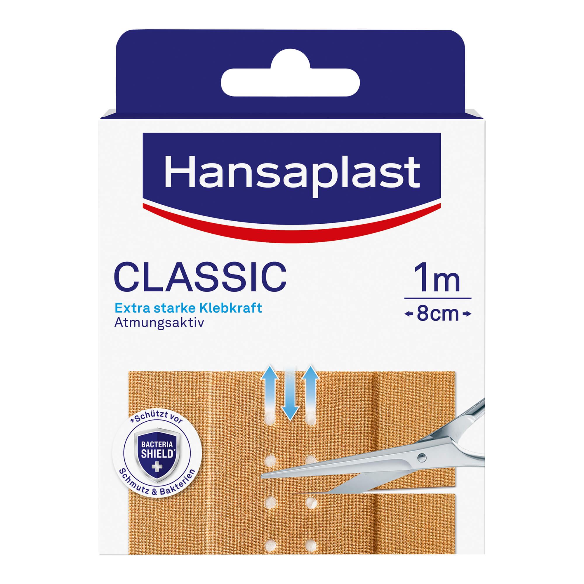 Hansaplast Classic Pflaster 1 m x 8 cm