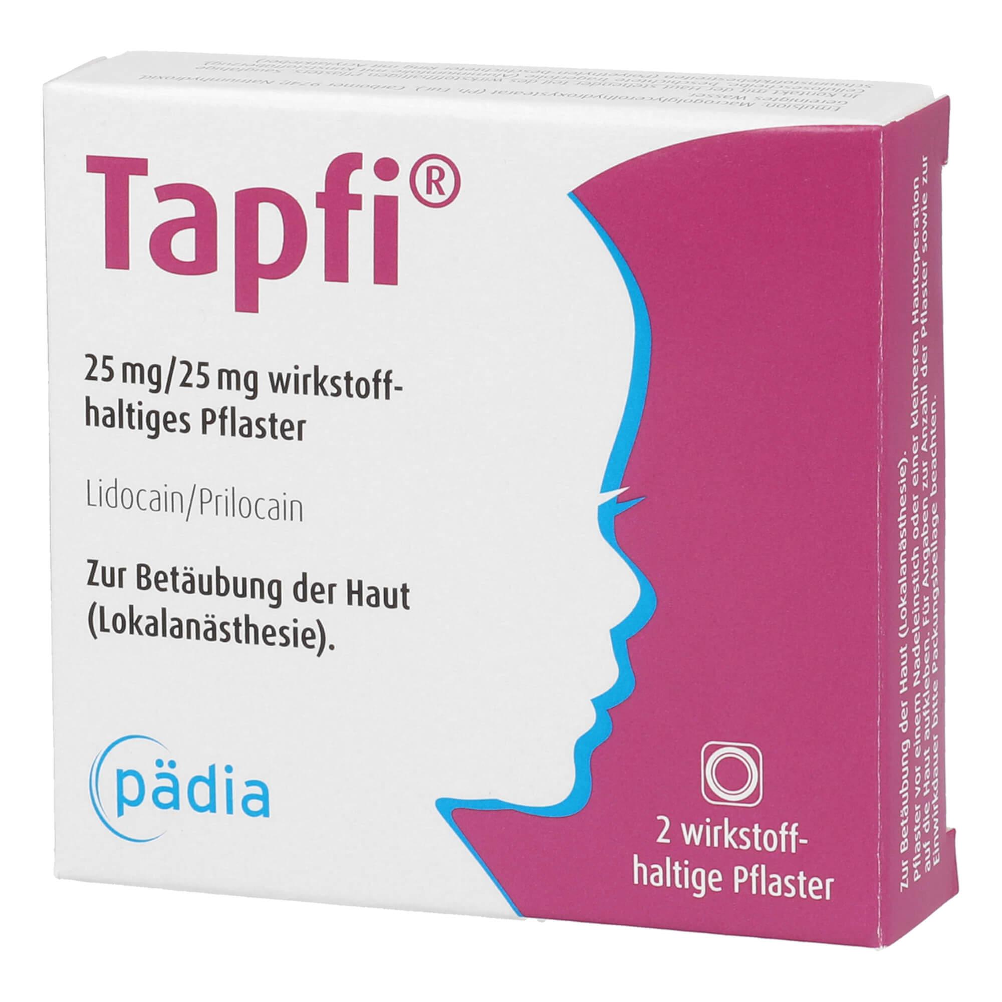 Tapfi 25 mg/25 mg Wirkstoffhaltiges Pflaster