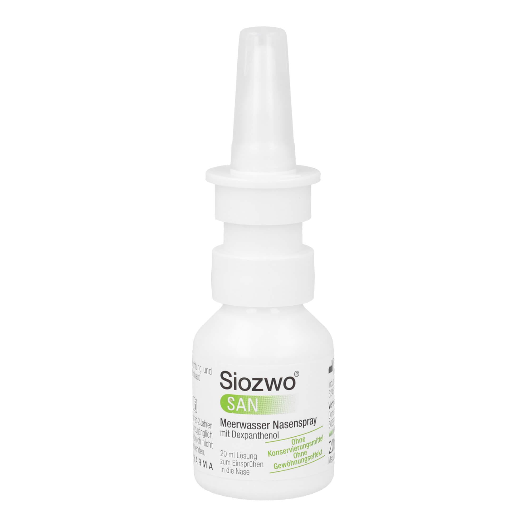 Siozwo SAN Meerwasser Nasenspray mit Dexpanthenol