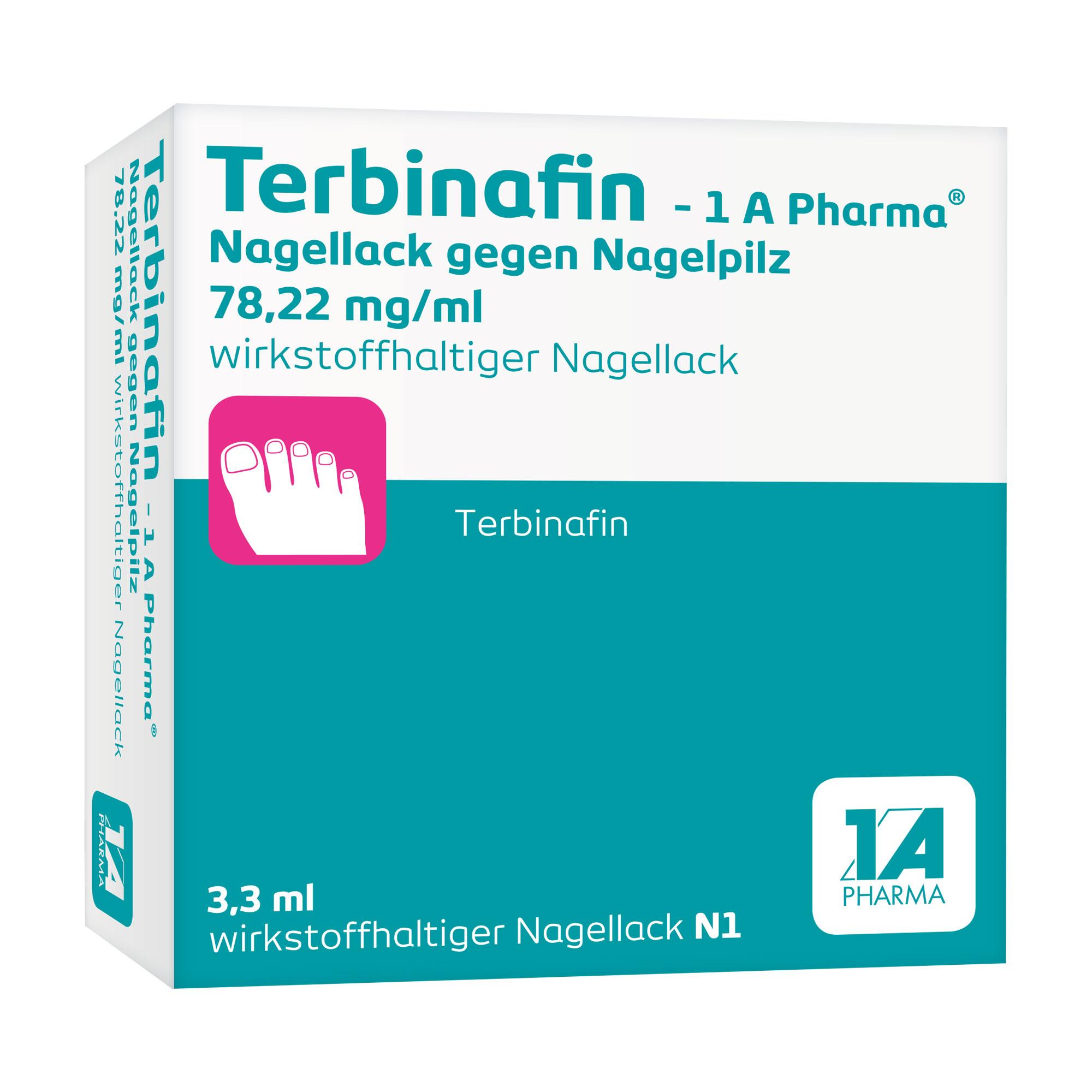 Terbinafin - 1 A Pharma Nagellack gegen Nagelpilz