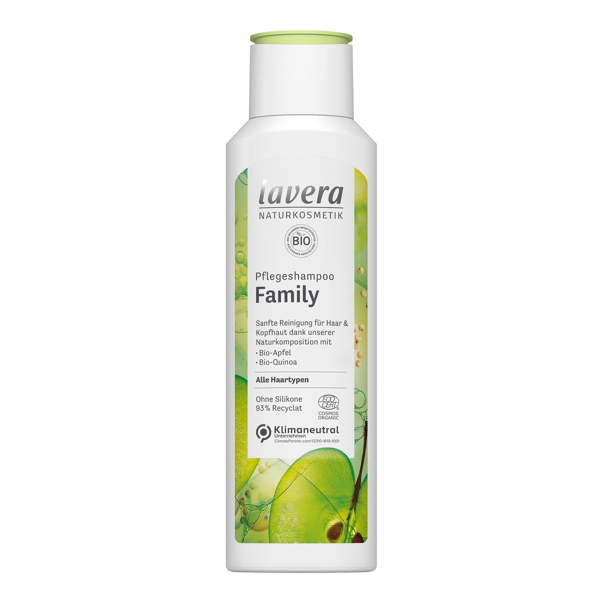 Lavera Pflegeshampoo Family